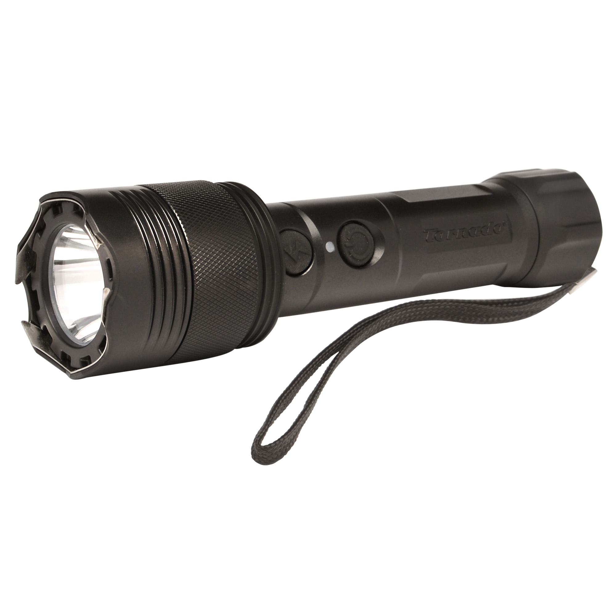 This Tornado stun gun features a powerful 120-lumen light and can power both the light and the stun feature simultaneously. Includes tactical holster.