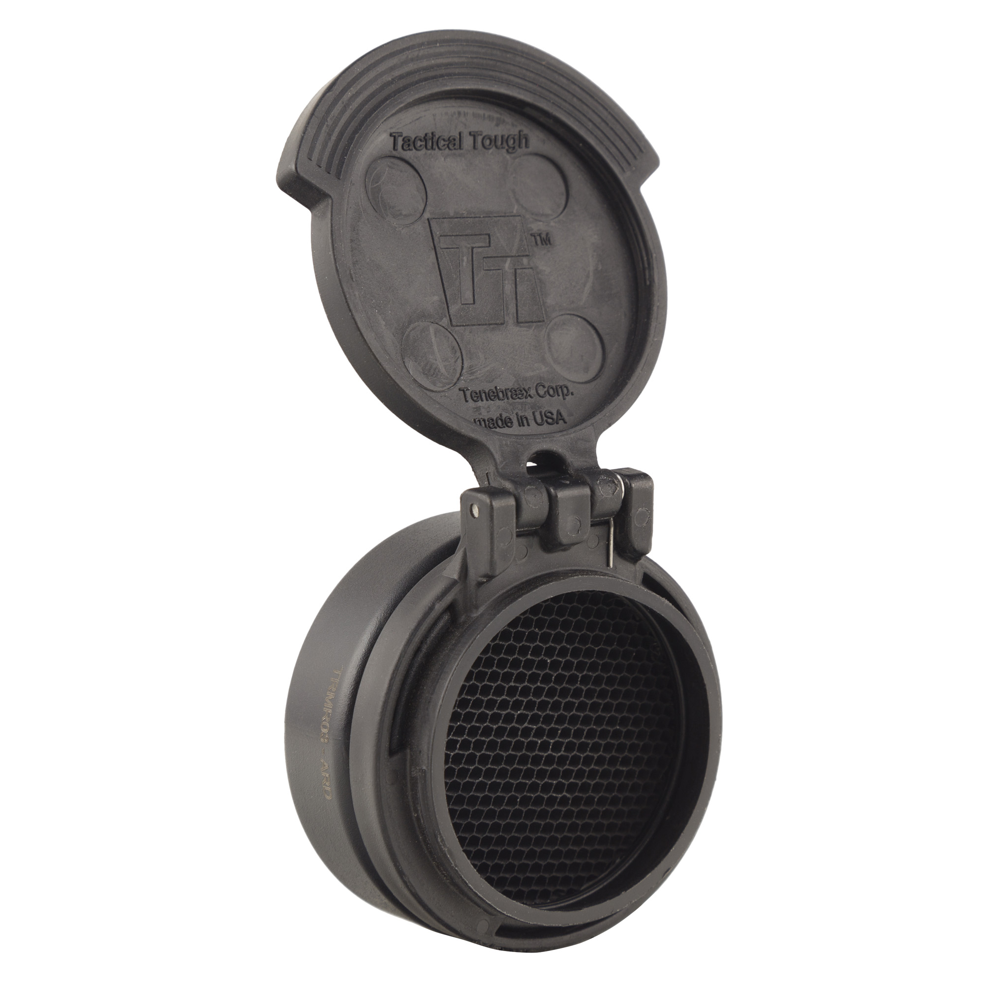 Features a durable spring loaded flip cap for protecting the objective lens of the Trijicon MRO(R) and an ARD (Anti-Reflective Device) for shielding the forward light emission from the lens.