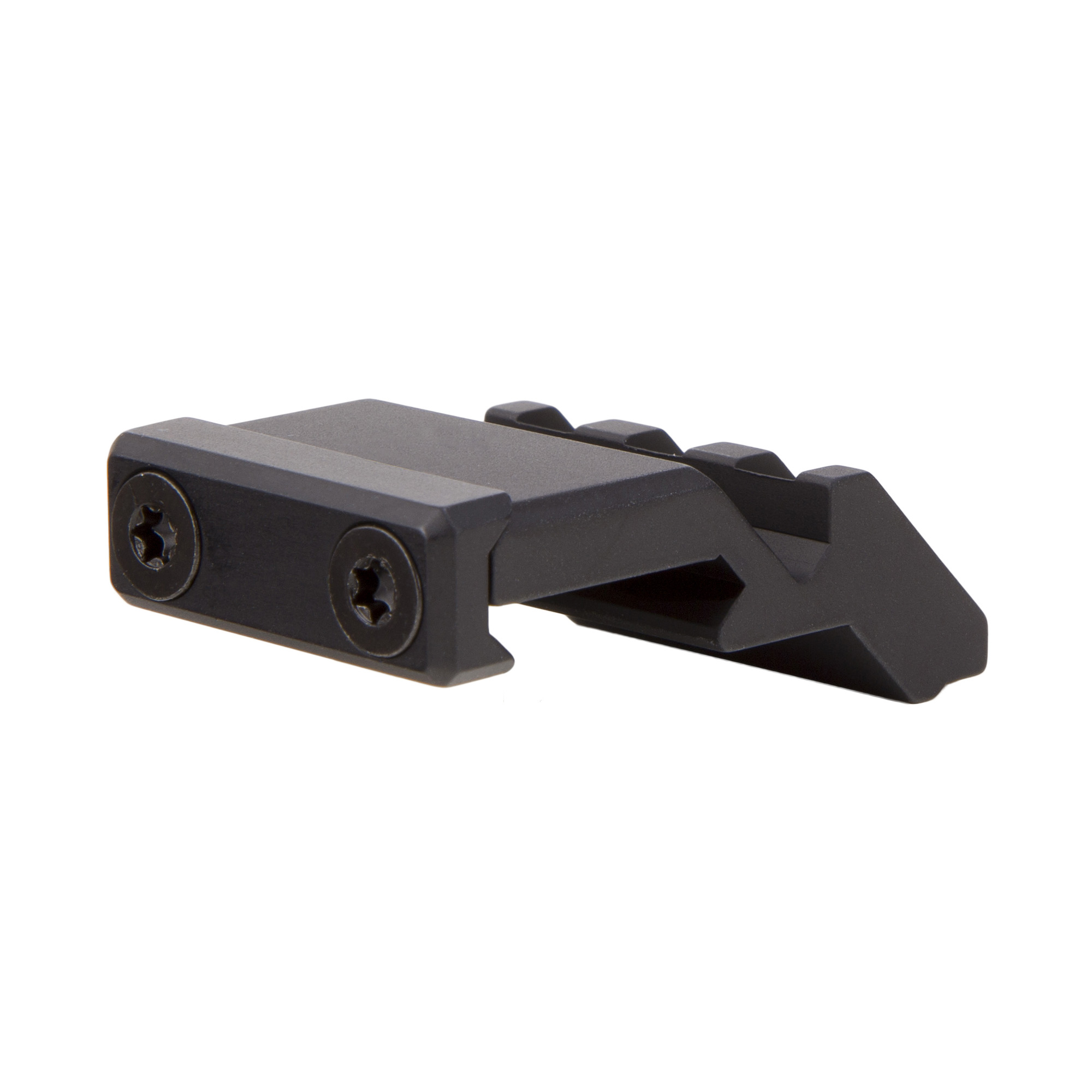 "Perfect for that situation where you need the versatility of a magnified optic paired with a Trijicon RMR(R) or SRO(TM) red dot sight in close quarters. This offset rail adapter attaches to the firearm's picatinny rail and provides a short picatinny rail at a 45 degree offset to mount a red dot sight. By mounting a red dot at a 45 degree offset"" it allows for an easy transition from the magnified optic by simply rotating the firearm. The low profile of this mount allows you to mount underneath almost any riflescope (such as the Trijicon AccuPoint(R)) without removing the scope or rings"" or in front/behind the optic (such as the Trijicon ACOG(R) or VCOG(R)). Please note that this is just the rail adapter. In order to mount the Trijicon RMR(R) or SRO(TM)"" you will also need the RM33 Low Mount."