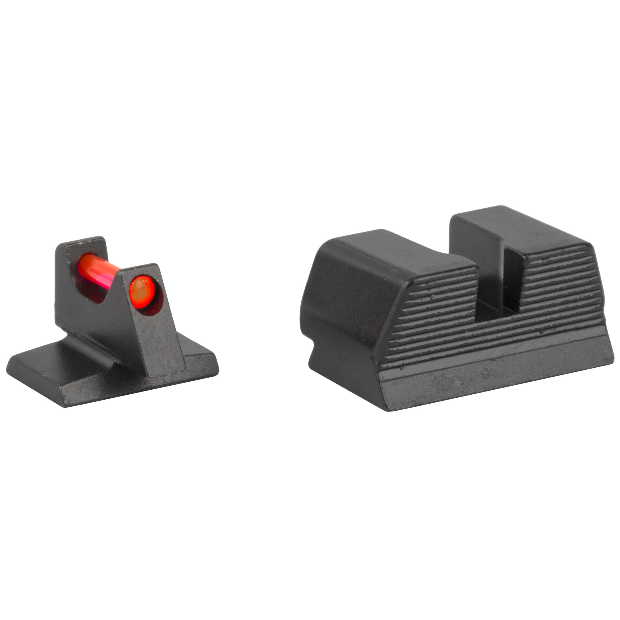 "Trijicon(R) Fiber Sight Set - for FNH(R) Pistols: Behind Trijicon(R) Fiber Sights is years of engineering and manufacturing experience in producing the industry's leading night sight and fiber illuminated scopes and sights. Featuring similar fiber optic materials used in several Trijicon(R) fiber optic scopes and sights"" including the battle-proven ACOG(R)"" the Trijicon(R) Fiber Sights are purposely engineered to bring the absolute brightest aiming point while retaining strength and maintaining a refined sight picture. Whether carrying or competing"" these bright"" thin sights create the perfect aiming point for fast"" accurate rounds on target."