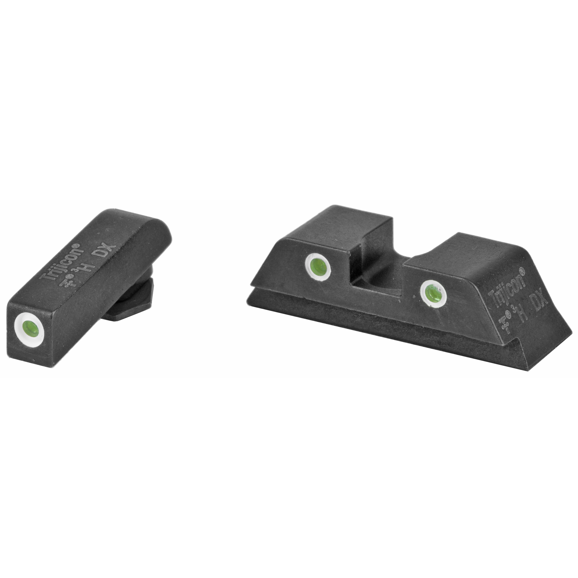 "TRIJICON NS FOR GLK 17 19 26 27: Trijicon Bright & Tough Night Sights are three-dot iron sights that increase night-fire shooting accuracy by as much as five times over conventional sights. Equally impressive"" they do so with the same speed as instinctive shooting - and without the need for batteries."