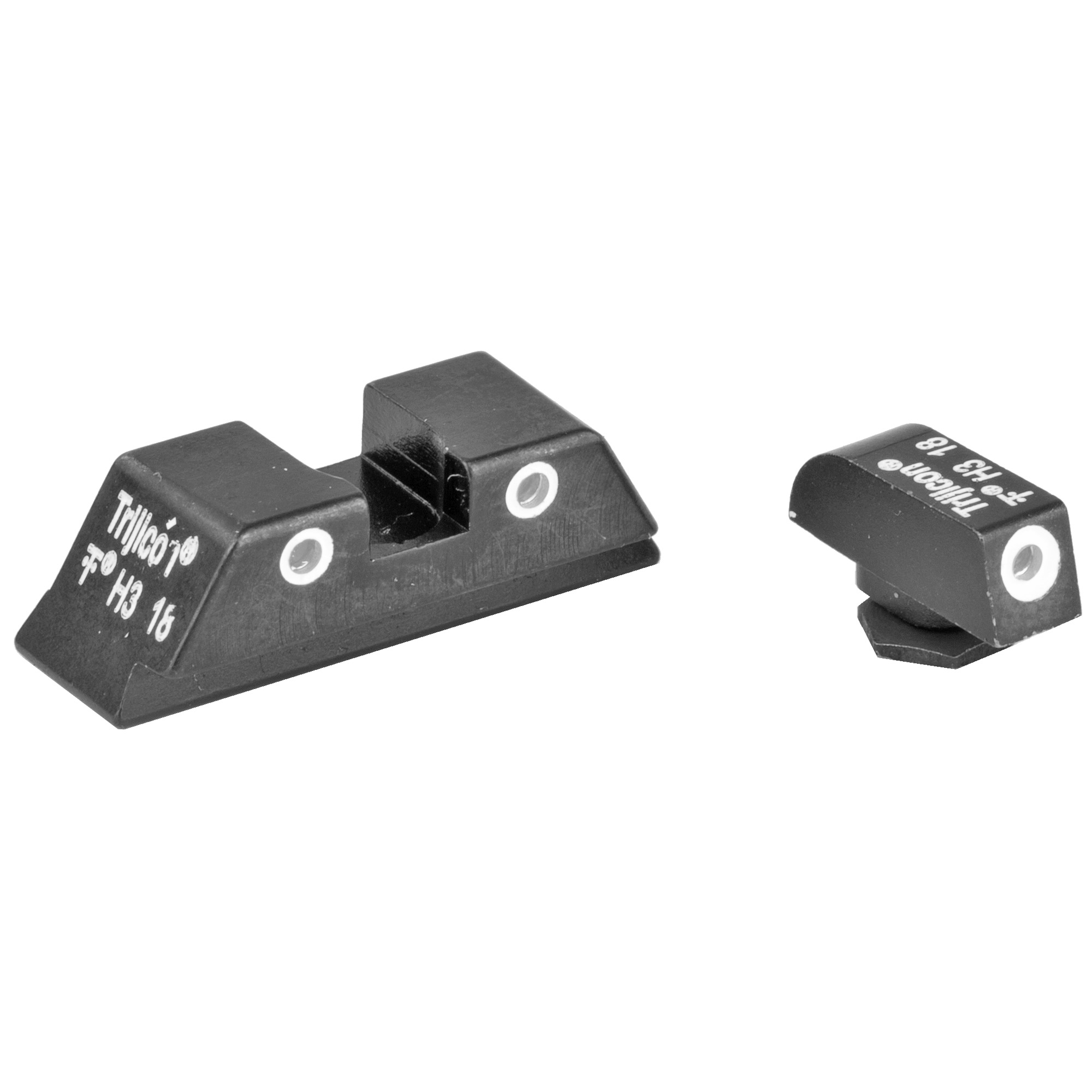 "TRIJICON NS FOR GLK 20 21: Trijicon Bright & Tough Night Sights are three-dot iron sights that increase night-fire shooting accuracy by as much as five times over conventional sights. Equally impressive"" they do so with the same speed as instinctive shooting - and without the need for batteries."