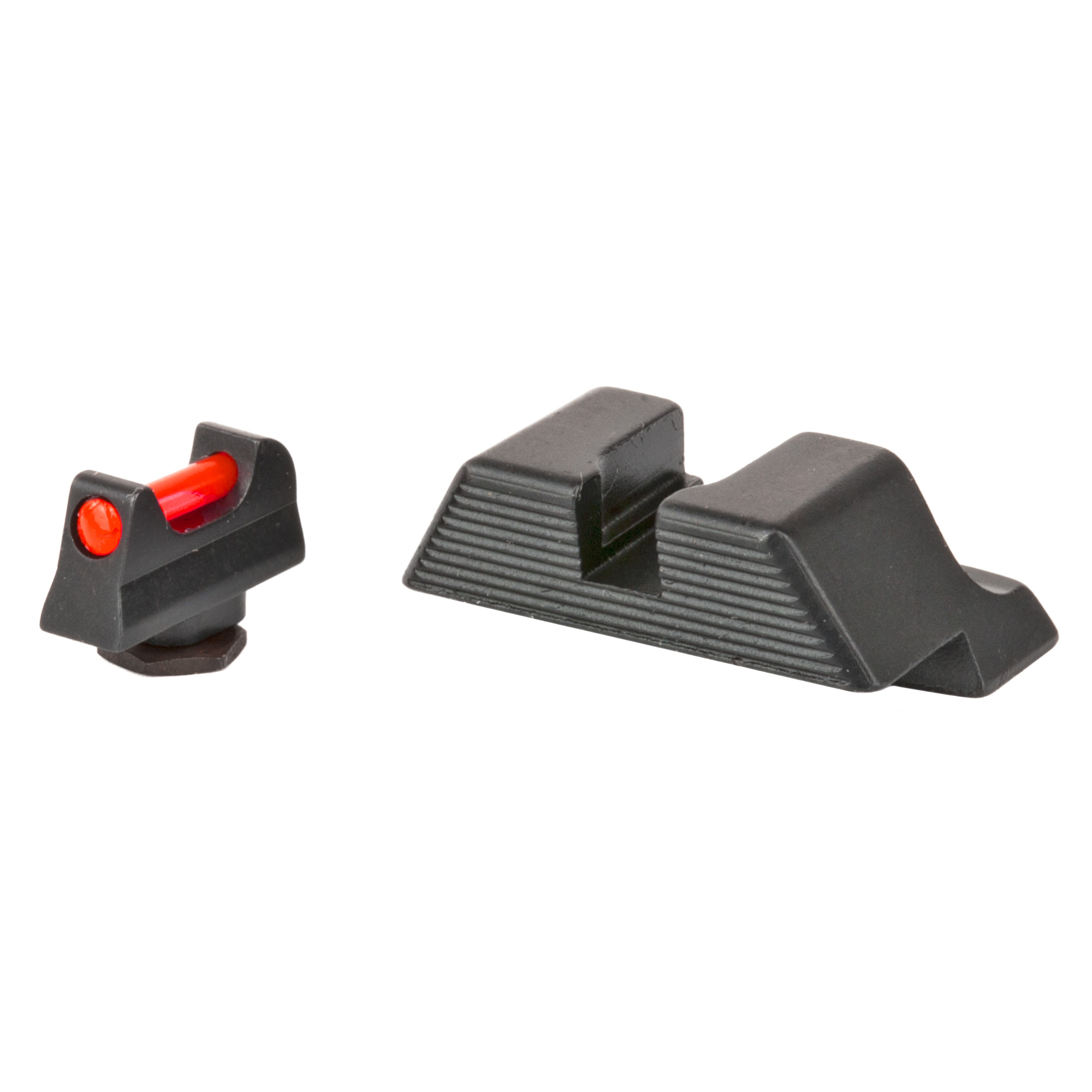 "Trijicon(R) Fiber Sight Set - for Glock(R) Pistols: Behind Trijicon(R) Fiber Sights is years of engineering and manufacturing experience in producing the industry's leading night sight and fiber illuminated scopes and sights. Featuring similar fiber optic materials used in several Trijicon(R) fiber optic scopes and sights"" including the battle-proven ACOG(R)"" the Trijicon(R) Fiber Sights are purposely engineered to bring the absolute brightest aiming point while retaining strength and maintaining a refined sight picture. Whether carrying or competing"" these bright"" thin sights create the perfect aiming point for fast"" accurate rounds on target."