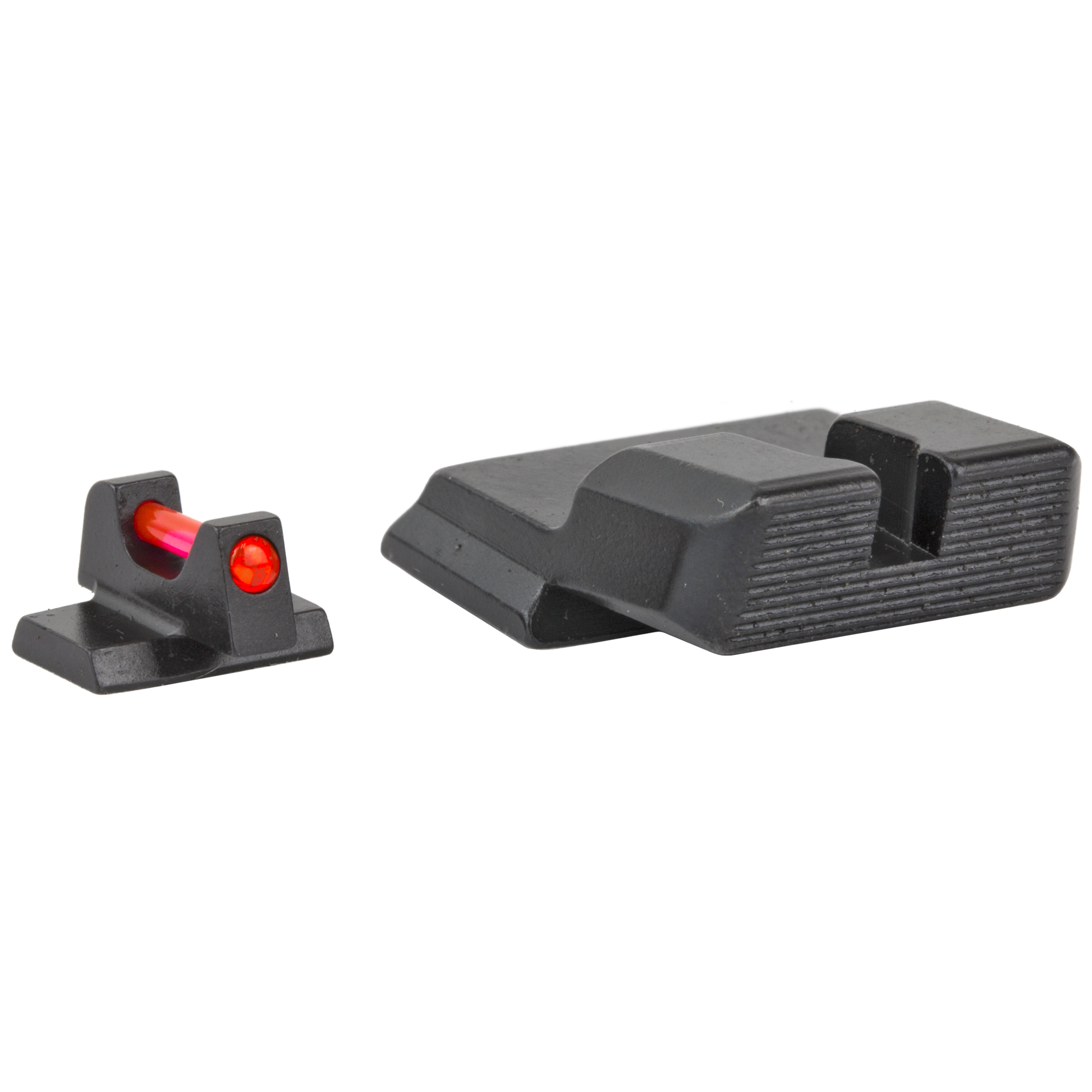 "Trijicon(R) Fiber Sight Set - for Smith & Wesson(R) Pistols: Behind Trijicon(R) Fiber Sights is years of engineering and manufacturing experience in producing the industry's leading night sight and fiber illuminated scopes and sights. Featuring similar fiber optic materials used in several Trijicon(R) fiber optic scopes and sights"" including the battle-proven ACOG(R)"" the Trijicon(R) Fiber Sights are purposely engineered to bring the absolute brightest aiming point while retaining strength and maintaining a refined sight picture. Whether carrying or competing"" these bright"" thin sights create the perfect aiming point for fast"" accurate rounds on target."