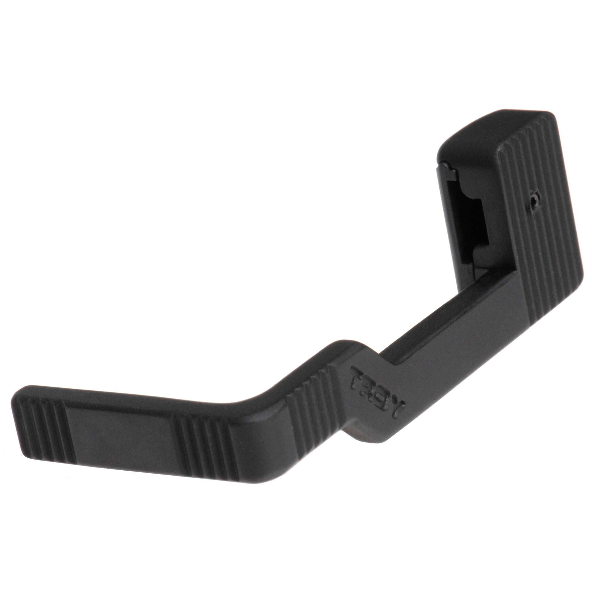 """The Ambidextrous Bolt Release is an indispensable device that easily releases or holds bolt open with one hand to streamline firearm clearing and reloading after a malfunction. By being ambidextrous"""" this bolt release eliminates hand changeovers improving control of rifle when in use. Made from hardened aircraft aluminum."""