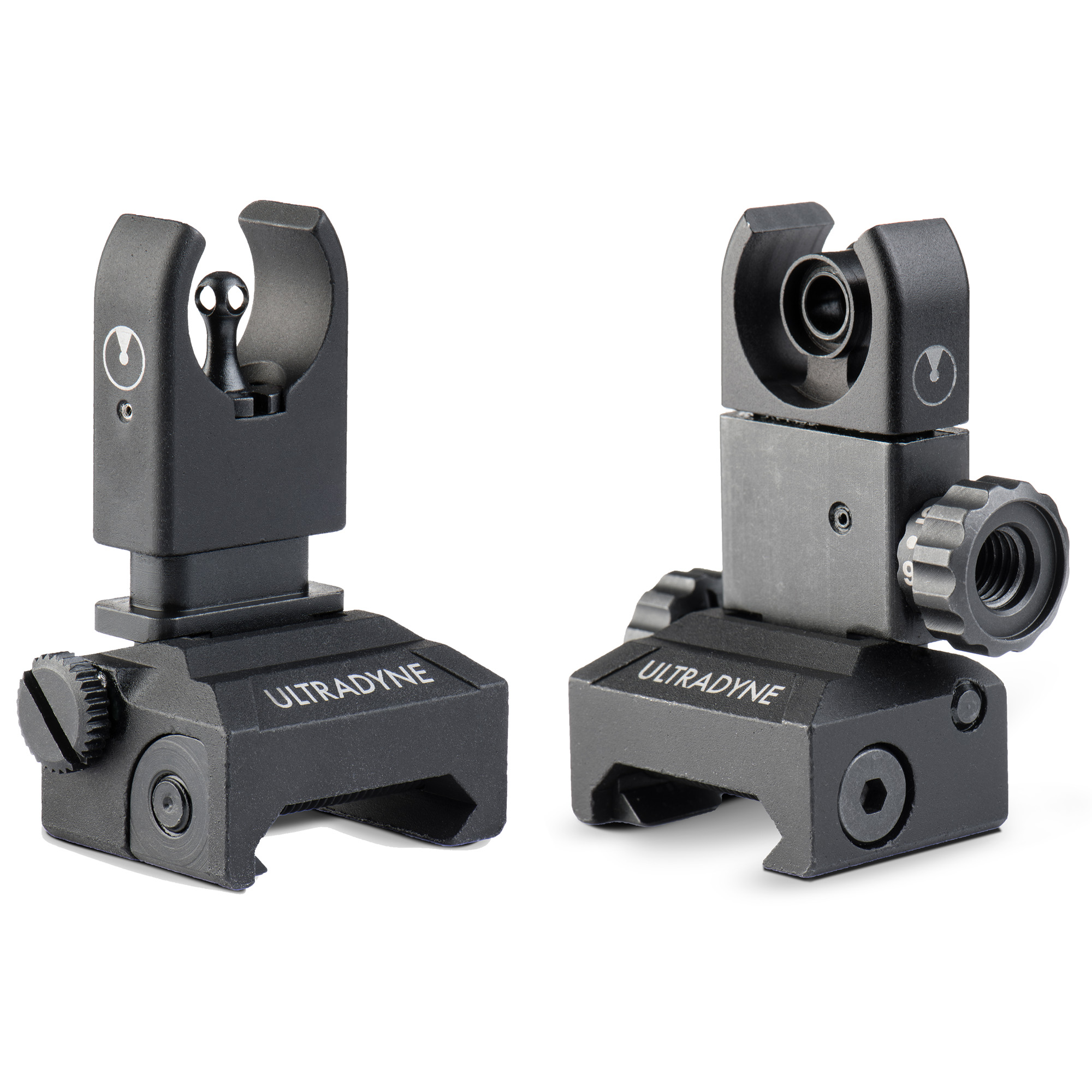 "The C4 Front/Rear Sight Combo is a dual aperture sighting system that is changing the way shooters think about iron sights. The C4 Rear Sight offers Rock-solid performance in a compact form with a ballistic ally calibrated elevation system that adjust in 50-yard increments from 200 to 600 yards. The C4 Front Sight brings precision front aperture technology to backup iron sights along with the ability to adjust both windage and elevation. Using these sights together creates a perfectly concentric sight picture that allows the shooter to see the target"" enables faster sight acquisition and gives the ability to consistently shoot accurately out to 600 yards and beyond. All with compact"" foldable iron sights."
