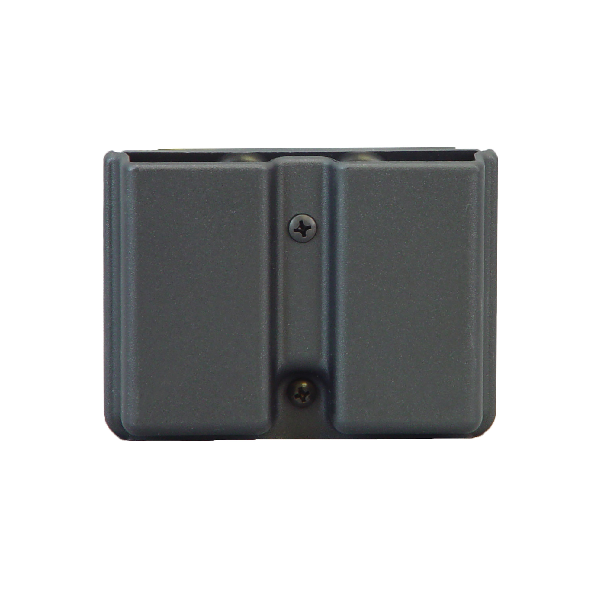 """Give your magazines the same protection as your firearm. Internal tensioning device for security. Fits belt loops up to 1 3/4"""" or can be clipped over waistband."""