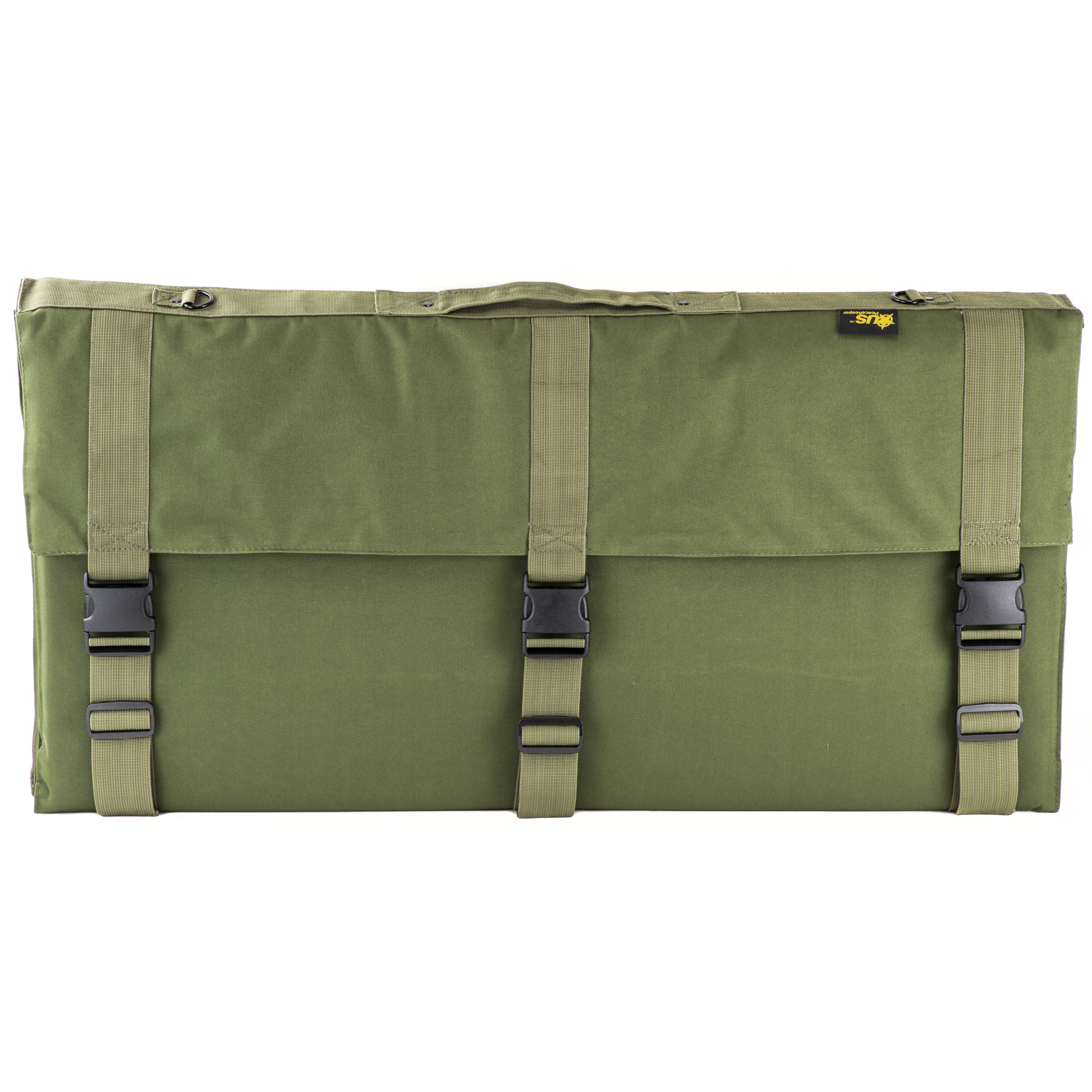 """This US PeaceKeeper Tactical Shooting mat is the best shooting mat on the market"""" period. This folded shooting mat will not roll up on you while you are getting squared away or taking your shot"""" or anything in between. It is .75"""" thick"""" so you will not feel the rocks under your mat and is still the right thickness for competition. It is 81.5"""" in length and 36"""" in width; so no pulling up your shot because your elbows are hanging off this mat. It features a non-slip area for your elbows"""" pockets for your ammo"""" log book"""" and even a ballistic cheat sheet window. Three wide buckles secure this mat when folded and closed."""