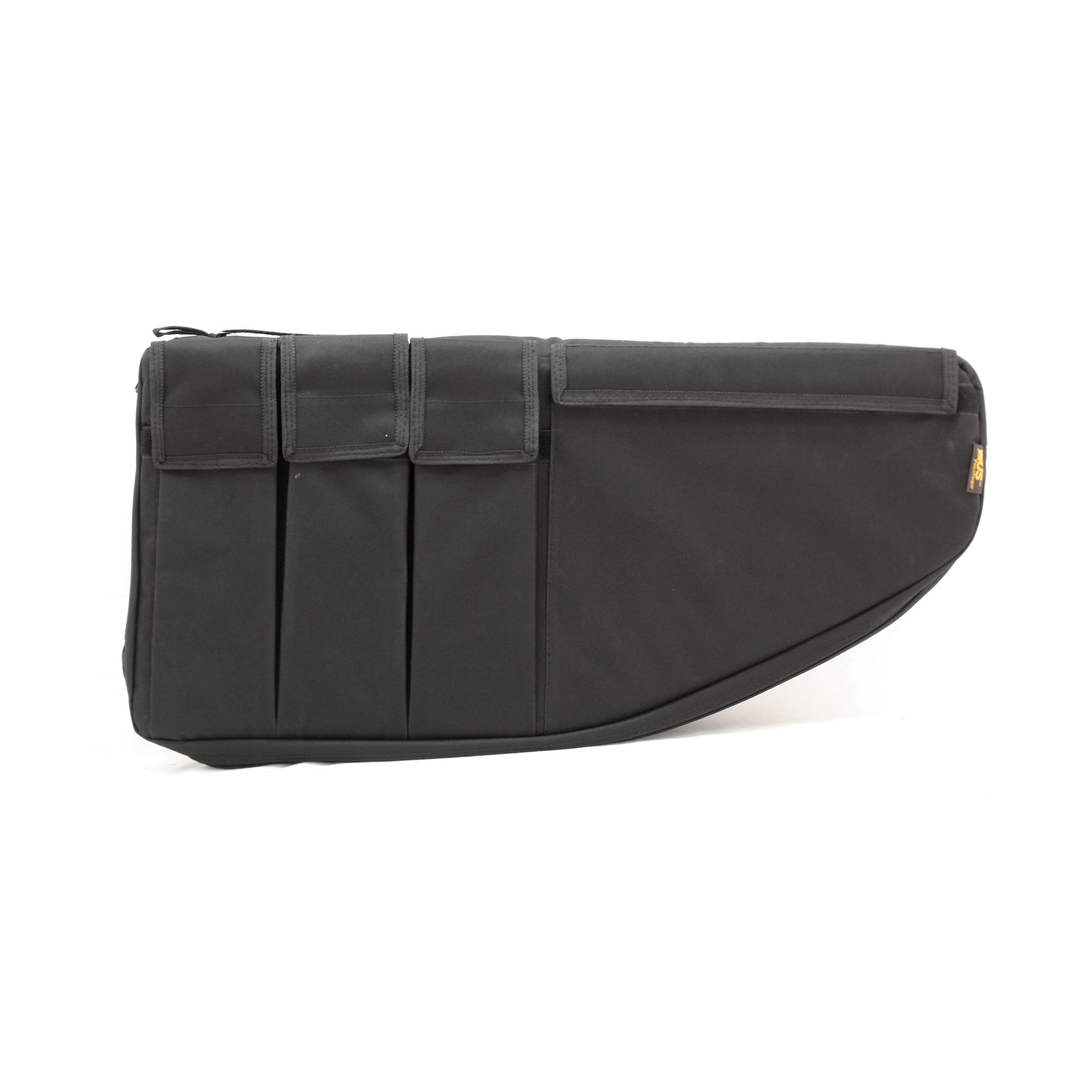 """This case is designed with a dual purpose. It is designed to accommodate most popular pistol caliber sub-machine guns with magazines attached or it can accommodate most short-barreled AR-type rifles with an overall length of 25"""" or less. Exterior pockets for magazines and other gear."""