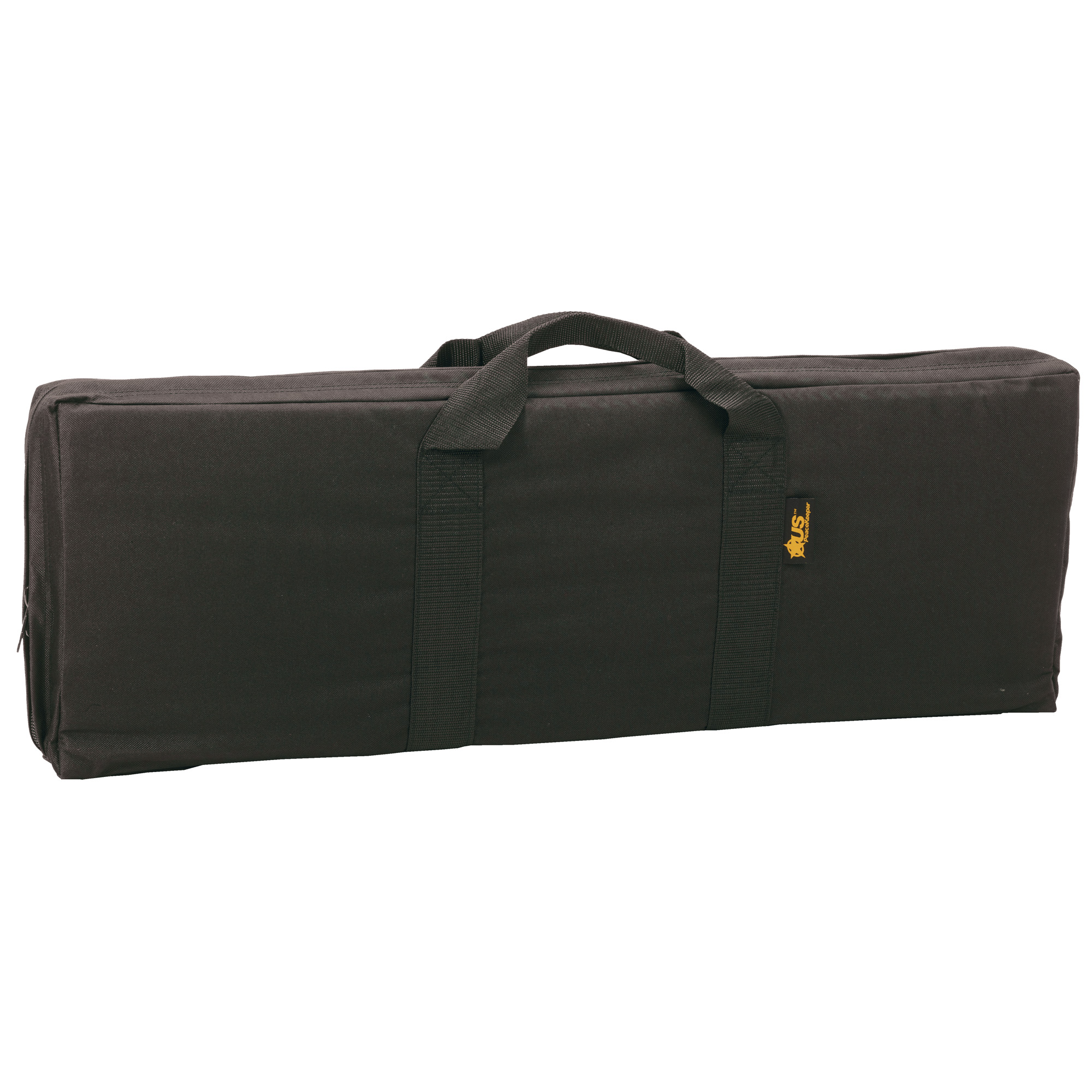 """US PeaceKeeper MRAT Case is designed for a M4 or similar length carbine with collapsible stock. Specifically designed for officers who have limited space in their vehicles. Same quality as the US PeaceKeeper RAT cases but with no outside pocket. In main compartment"""" (2) wide elastic straps to carry two (2) rifle magazines (double-stacked) and removable hook and loop straps to secure carbine. Wrap-around handle for easy carry."""