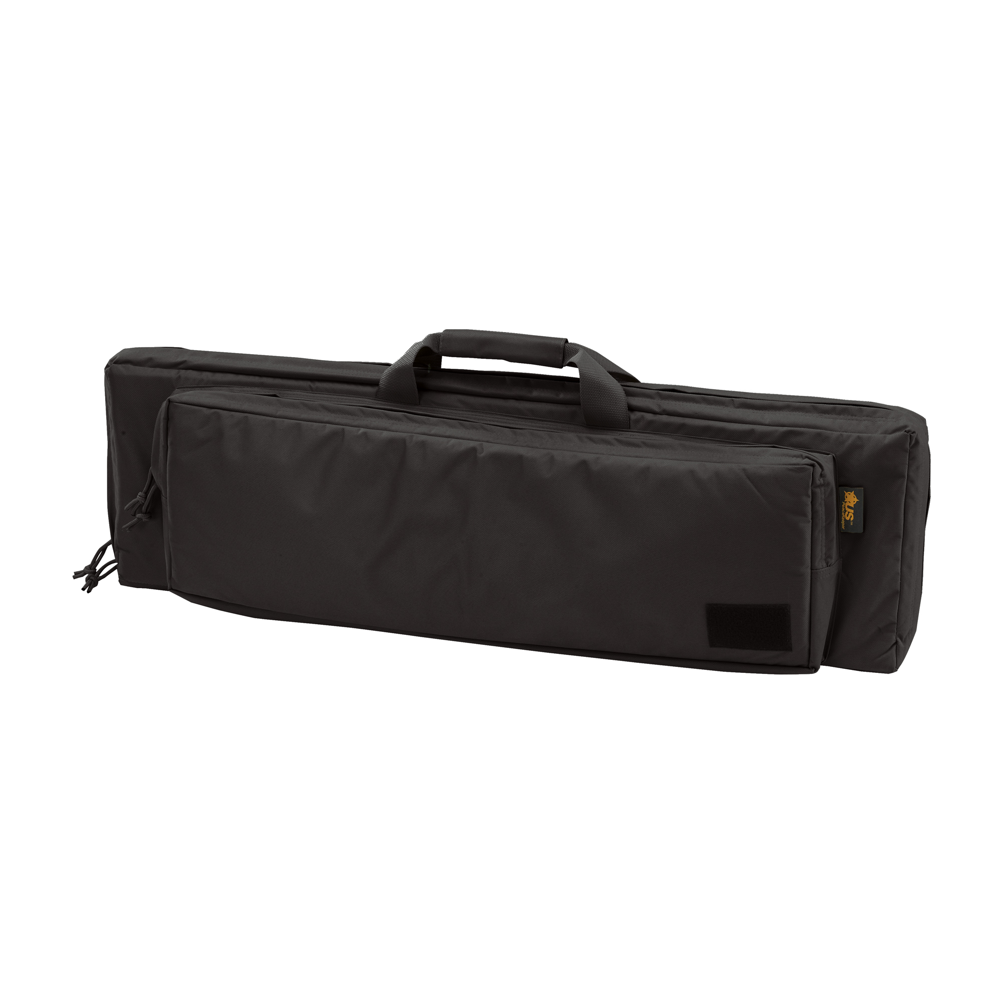 """Discreet and compact in style"""" but heavily padded and double-stitched to keep your rifle and gear protected and secure. Front pocket is a perfect place for a backup handgun and spare ammo. Each case includes straps to secure the firearm via the internal webbing system and contains a detachable carry sling which doubles as strap for the detachable ammunition pouch which holds up to six (6) magazines."""