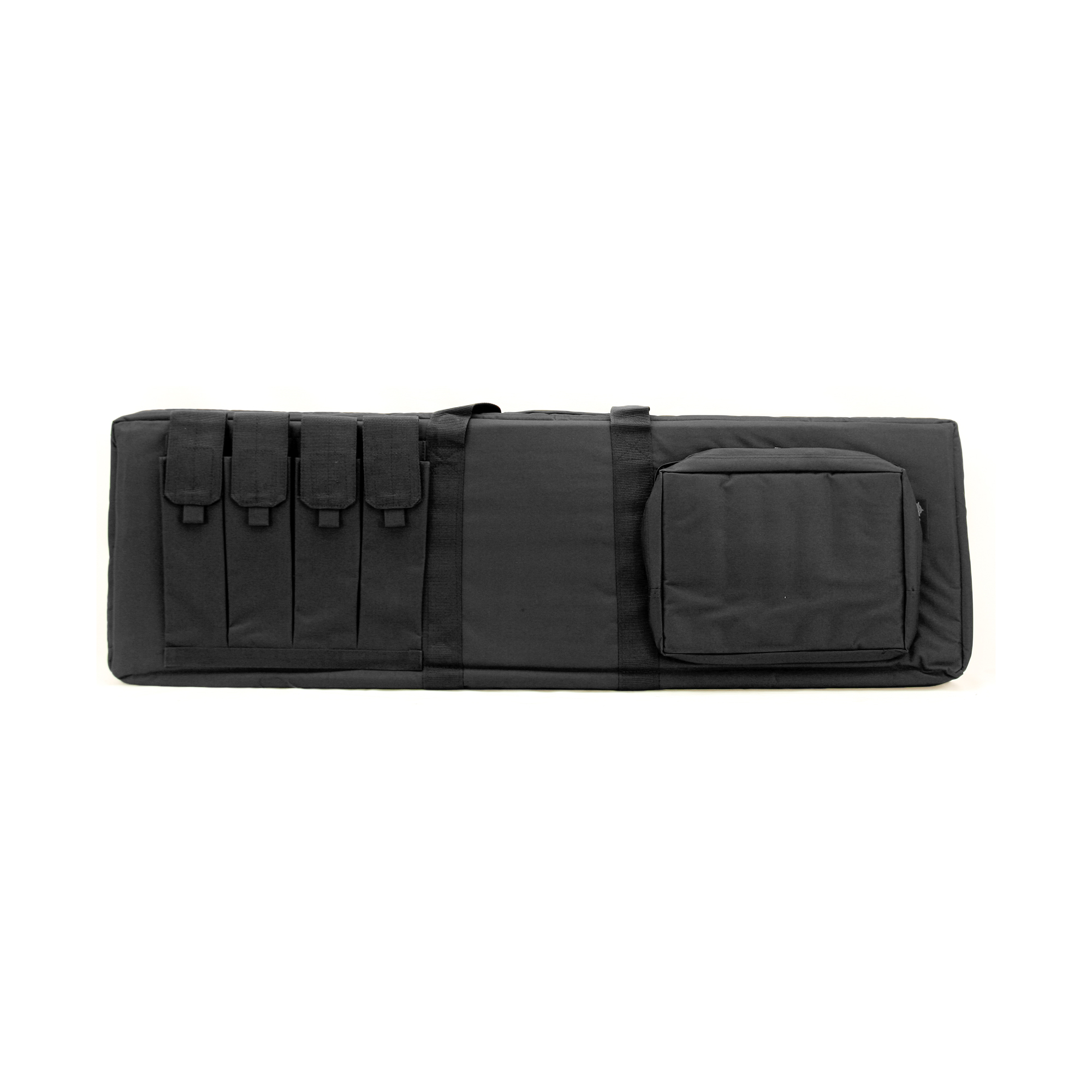 The US PeaceKeeper Tactical Combination Case was designed for the officer or shooter that wants to carry both a shotgun & rifle to the range. This case offers two (2) webbing systems to secure your rifle and shotgun and a thick (0.5) padded divider between guns protecting each gun's finish from damages. The exterior pockets are padded and large to hold ammo and your range gear. Double zipper allows the case to be locked.