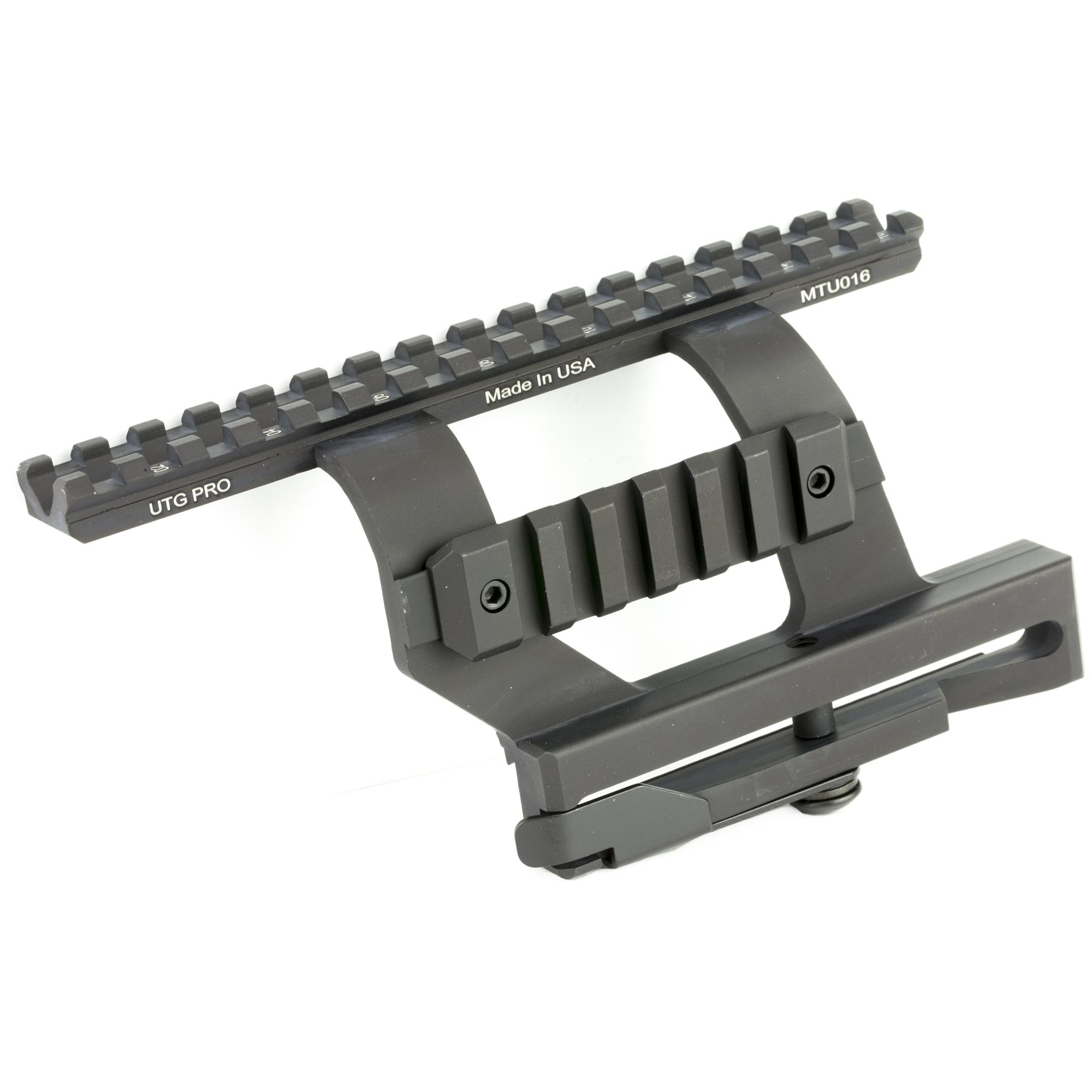 AK quick detach side mount scope rail made by UTG.