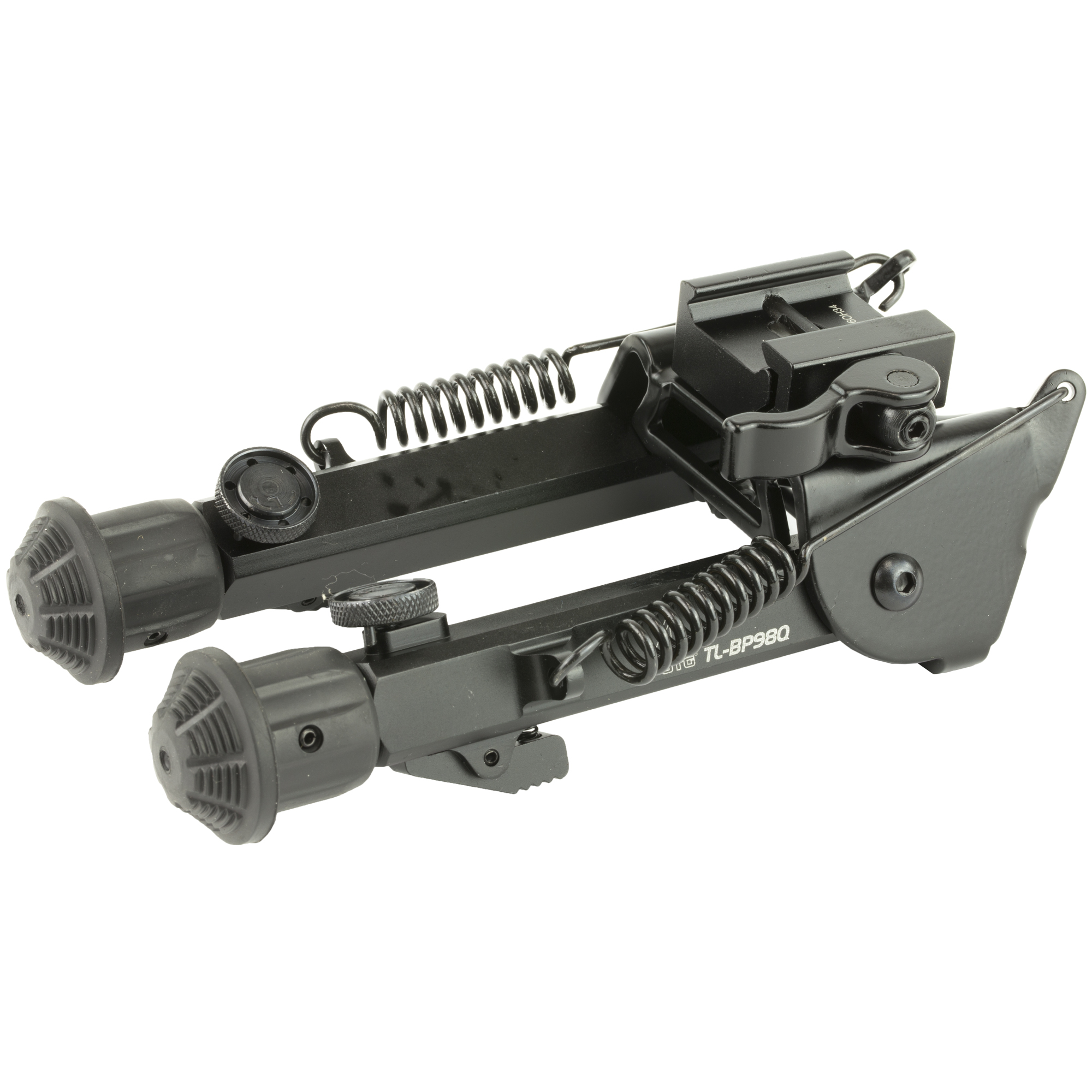 """The Leapers UTG Super-Duty Bipod with Quick-Detach Mount is a versatile and durable gun bipod that gives you dual mounting options"""" rapid deployment"""" quick and easy mounting"""" and a long service life. The quick-detach lever lock lets you rapidly attach or remove the rifle bipod"""" and the dual mounting kit lets you attach it to a swivel stud mounting point or to a Picatinny rail or Weaver rail. The Leapers UTG Super-Duty Op Bipod has variable-length legs that can give you 6"""" to 8.5"""" of clearance"""" to suit the terrain and your shooting style. Other noteworthy features include double support bars for added structural strength"""" a robust external spring for tension control"""" and a five-notch leg extension with push-button release. The Leapers UTG OP Super-duty Bipod has heavy duty rubberized foot pads to provide a strong grip on any surface."""