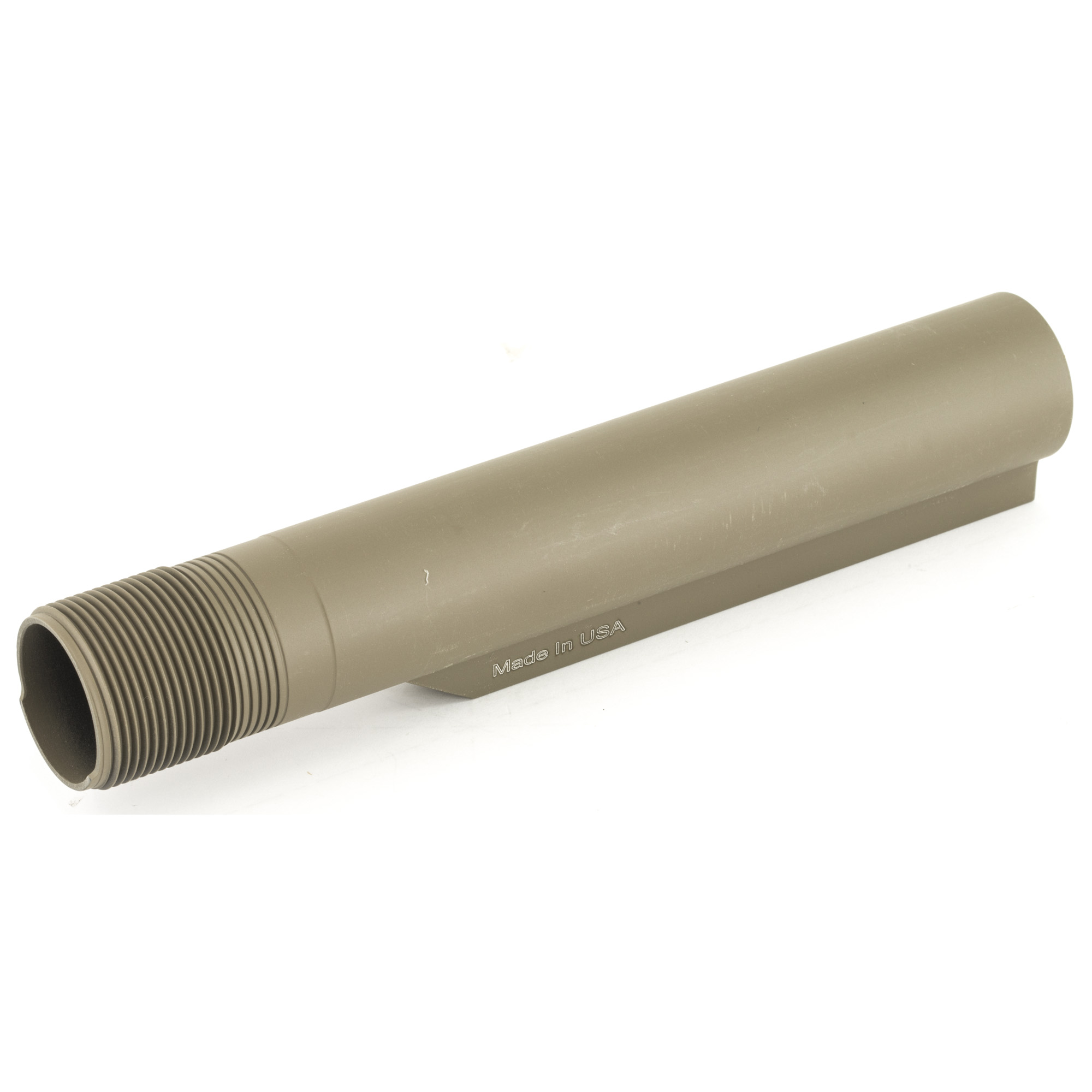 The UTG Pro Receiver Extension Tube is a 6-position Mil-spec diameter receiver extension tube for AR-15 rifles. It is CNC Machined from 6061-T6 Aircraft Grade Aluminum with Precisely Rolled Threads for Durable Thread Engagement with Lower Receiver. Flat Dark Earth finish.