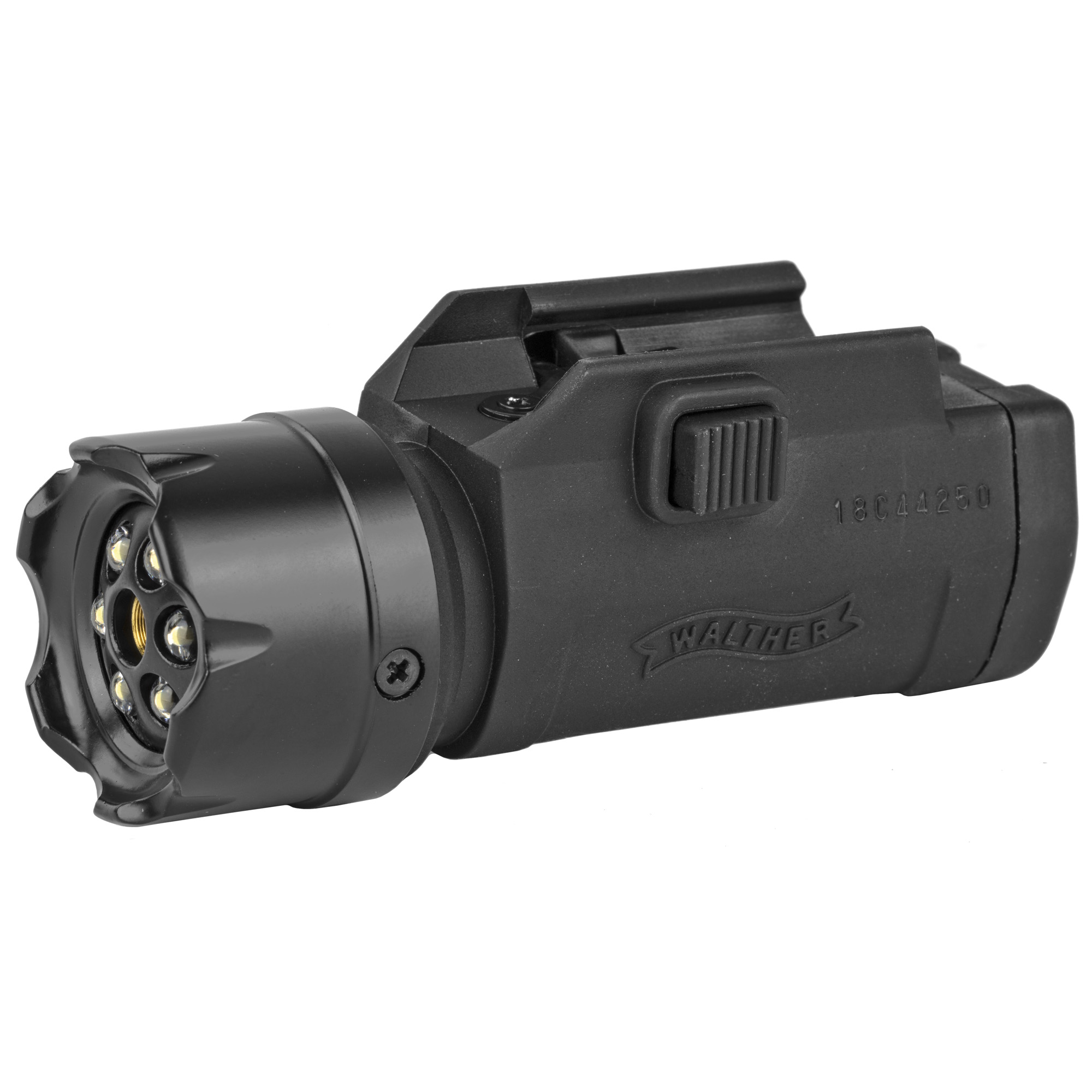 "The Walther FLR 650 LED Light and Laser Sight fits Weaver and Picatinny rails with a spring tension mounting system. This sight allows you to clearly see what you are aiming at. A tough composite frame and housing encloses the bright flashlight"" which contains six white LED lights and a red laser (Class IIIA"" 5 mW) in the center of the sight. The four-function switch allows fast switching between flashlight"" laser"" laser and flashlight"" or off. The Nightforce's sight is fully adjustable for windage and elevation. Three AAA batteries are included. Make your air rifle"" air pistol"" or airsoft gun more tactical today!"
