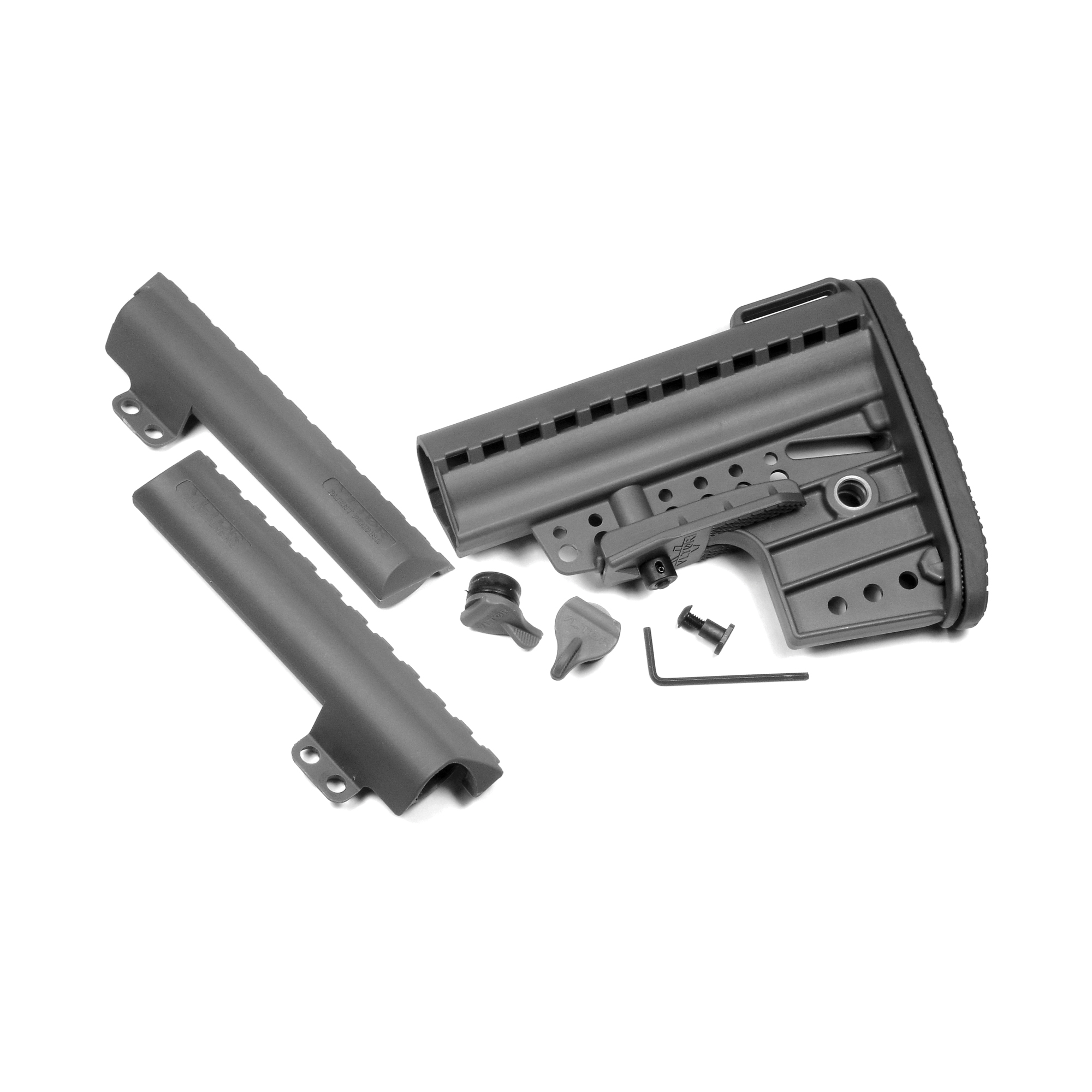 """Designed from lessons taken from the modern battlefield"""" the IMOD stock provides a highly practical and functional design. In addition"""" the stock is constructed from the finest materials"""" making it capable of withstanding the most rugged demands."""