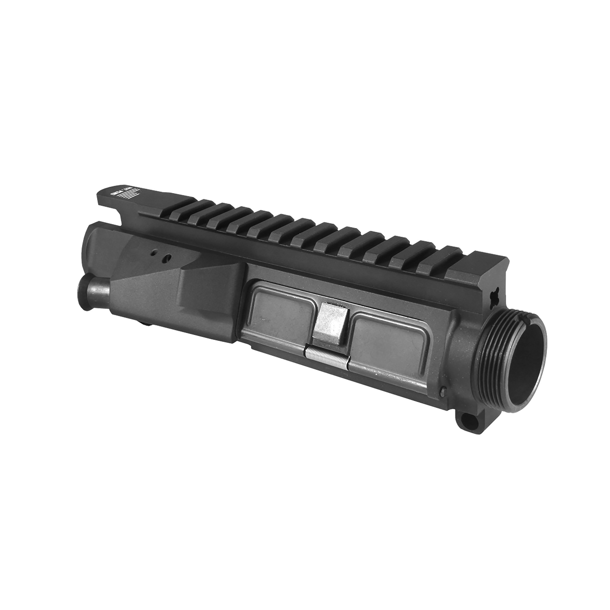 """The MUR is a rigid Mil-Spec flat-top upper made to fit all AR15/M16 M4 rifles and carbines. The MUR was developed to give the customer a Mil-Spec correct upper receiver with a thicker wall"""" making the MUR upper receiver a stronger platform. This more rigid upper receiver will increase accuracy and reliability"""" while extending the life of the interfacing components. The MUR-1A model comes equipped with a shell deflector and forward assist. The MUR-1S comes with a one-piece machined shell deflector only."""