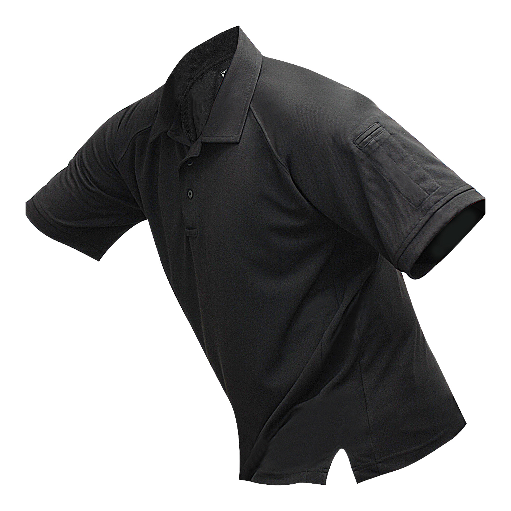 """The Vertx coldblack(R) polo allows users to stay cool. Exclusive coldblack(R) technology combined with moisture-wicking fabric reflects 80% of the sun's UV rays and lessens heat absorption - resulting in a light"""" breathable shirt ideal for warm weather missions. Streamlined design"""" convenient sleeve pockets for pens and pencils"""" and a no-roll collar give this shirt a professional look with all the tactical functionality to get the job done."""