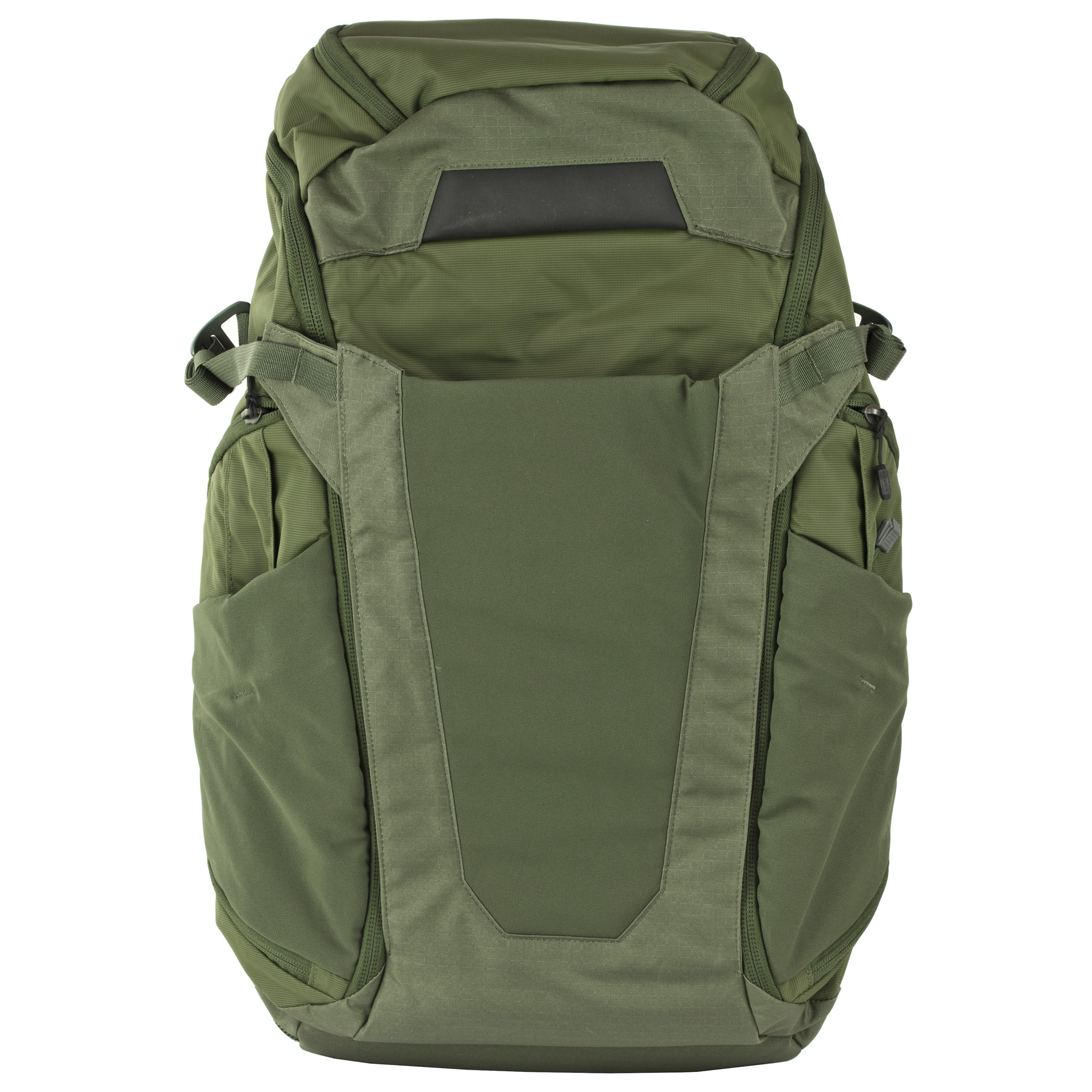 """When you can't leave anything behind"""" including your PDW rifle"""" you can rely on the roomy and robust construction and features built into the Gamut Overland pack to keep your gear at the ready. The main compartment opens 180 degrees for easy loading and gear retrieval and the convertible front flap stows quickly behind the loop-faced internal MOLLE panel to change its visual signature and for quick access to critical items organized there. Adjustable shoulder and sternum straps and waist belt help you manage the load in comfort while maintaining control and stability."""