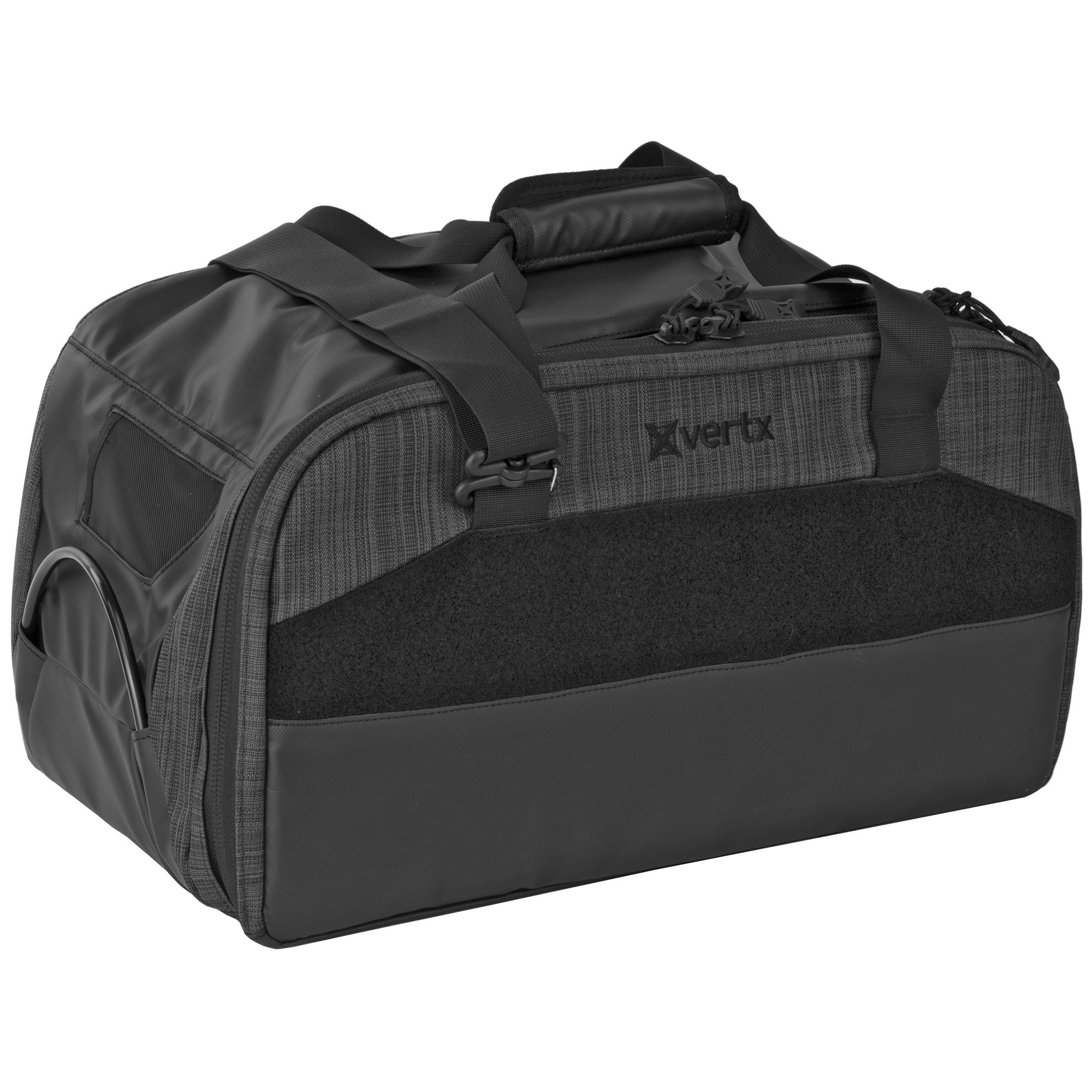 """Vertx Course of Fire (COF) Heavy Range Bags provide effortless organization with numerous spaces and pockets to keep your kit squared away. Robust materials and easy-wipe side and bottom surfaces ensure you'll get long-term service from these bags. The unique security lock-down cable system runs the length of the bags"""" giving you multiple options for securing it to your vehicle"""" reducing chances of a quick smash-and-grab. Internal hard dividers and padded panels provide structure and protection for weapons"""" tools and other gear"""" while large VELCRO Brand loop surfaces give you the flexibility to position accessories and organizing pouches exactly where you want them. Removable ammo caddies and a six-pack mag carrier give you the ability to take just what you need to the line"""" and the adjustable/removable padded shoulder strap is especially convenient when you're loaded for a serious day of plinking. Don't settle for aggravation and disorganization"""" set your sights on a Vertx COF Range Bag."""