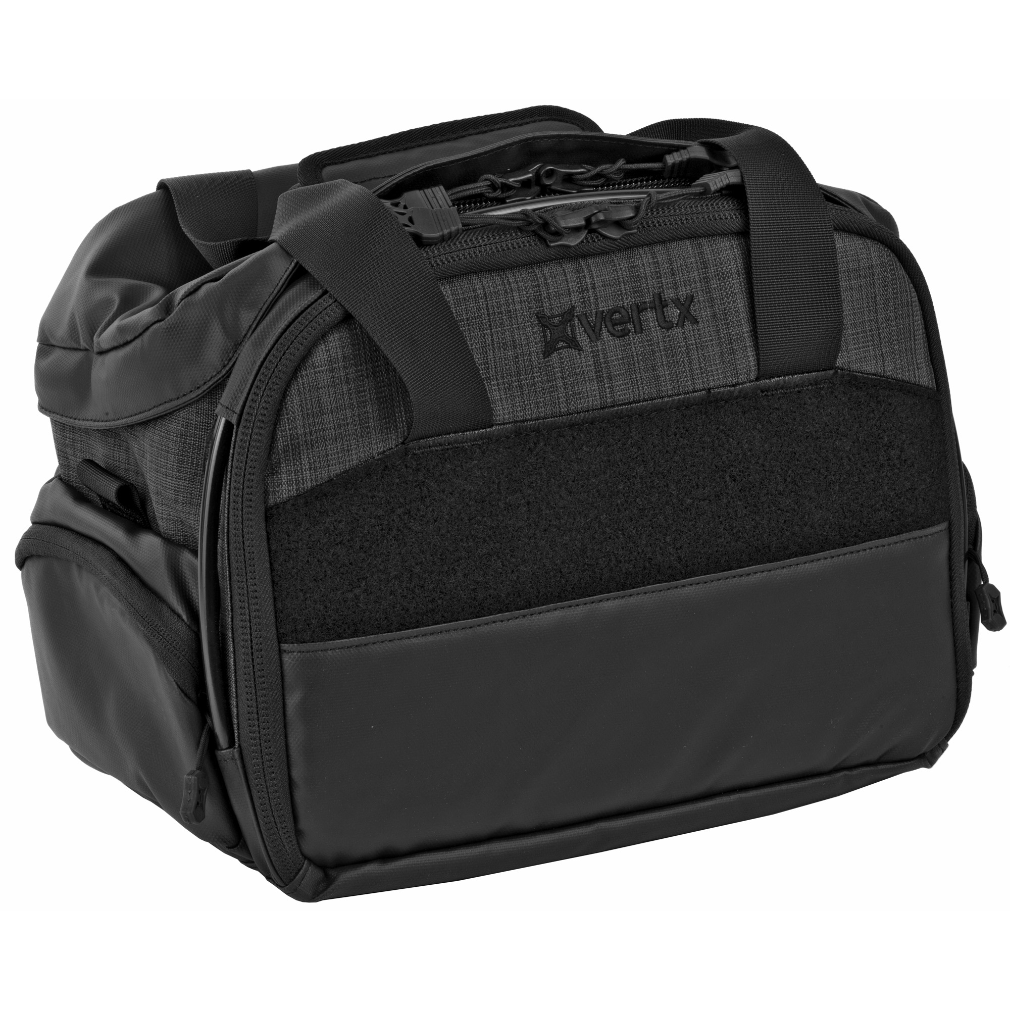 """Vertx Course of Fire (COF) Light Range Bags provide effortless organization with numerous spaces and pockets to keep your kit squared away. Robust materials and easy-wipe side and bottom surfaces ensure you'll get long-term service from these bags. The unique security lock-down cable system runs the length of the bags"""" giving you multiple options for securing it to your vehicle"""" reducing chances of a quick smash-and-grab. Internal hard dividers and padded panels provide structure and protection for weapons"""" tools and other gear"""" while large VELCRO Brand loop surfaces give you the flexibility to position accessories and organizing pouches exactly where you want them. Removable ammo caddies and a six-pack mag carrier give you the ability to take just what you need to the line"""" and the adjustable/removable padded shoulder strap is especially convenient when you're loaded for a serious day of plinking. Don't settle for aggravation and disorganization"""" set your sights on a Vertx COF Range Bag."""