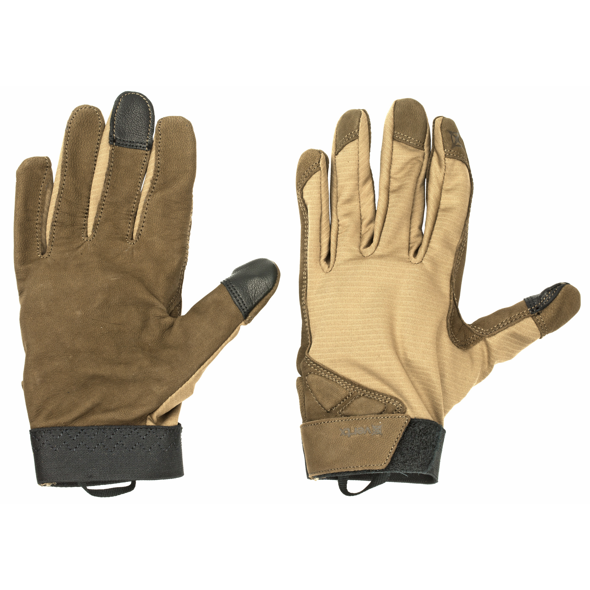 """The Vertx(R) VaporCore(TM) Shooter Glove utilizes a formidable pairing of materials to provide Prepared Professionals(TM) with exceptional fitting and dexterous hand protection. The goatskin suede offers the perfect balance of durability"""" tensile strength"""" flexibility and comfort. Complementing the leather is VaporCore(TM)"""" powered by 37.5(R) Active Particle Technology"""" which delivers unparalleled comfort regardless of the operational environment."""