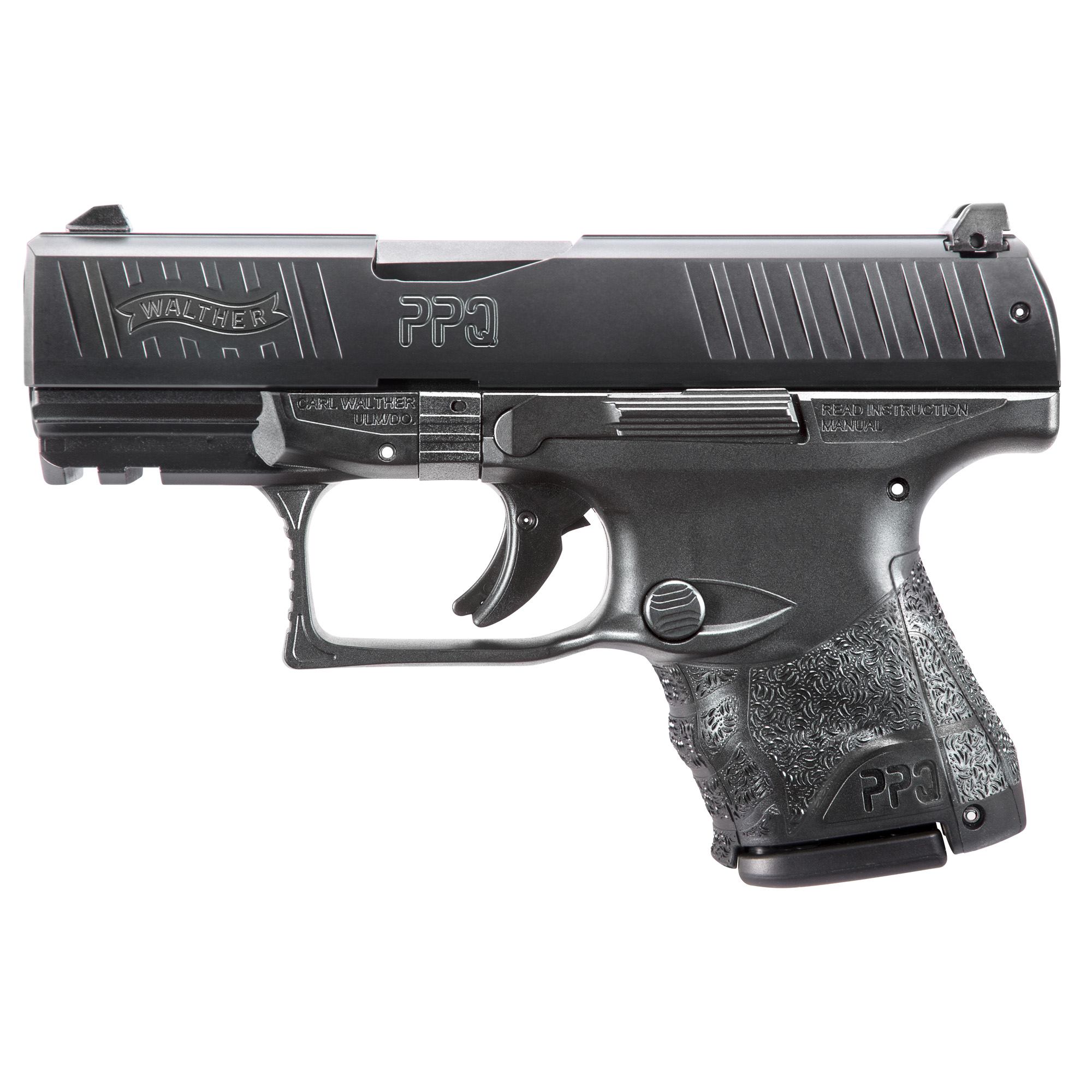 """The PPQ M2 is a true breakthrough in ergonomics for self-defense handguns. The sculpted grip meshes smoothly into the hand. The trigger is the finest ever on a polymer"""" striker-fired handgun. The styling is elegant and trim. What's more"""" the PPQ M2 has been updated with a new traditional reversible mag release button."""