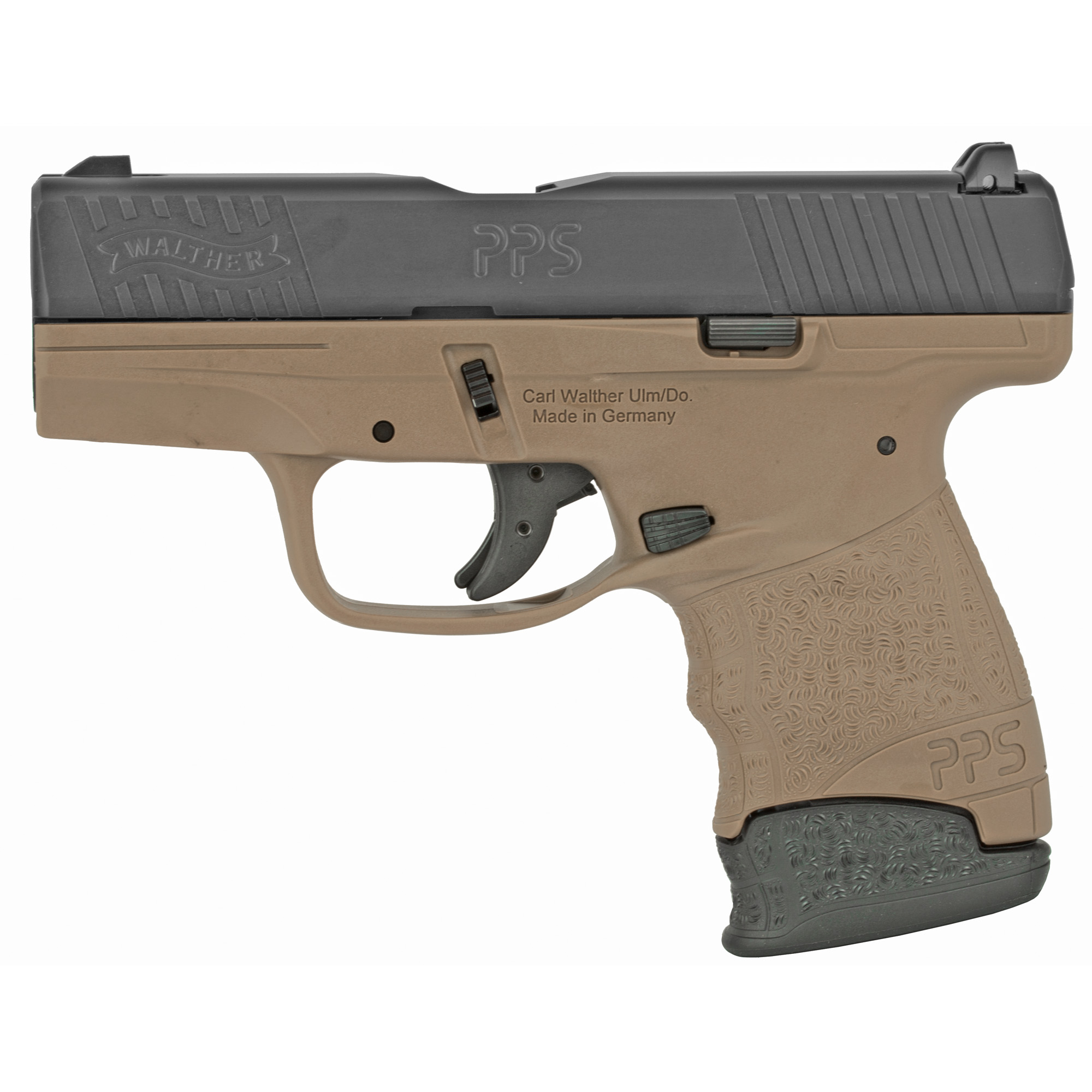 """The new PPS M2 is everything you're looking for in a compact handgun. The slim profile"""" push button magazine release"""" smooth trigger pull and Carl Walther signature ergonomics deliver the features that you want from Walther and are housed in a frame that fits just about anyone."""