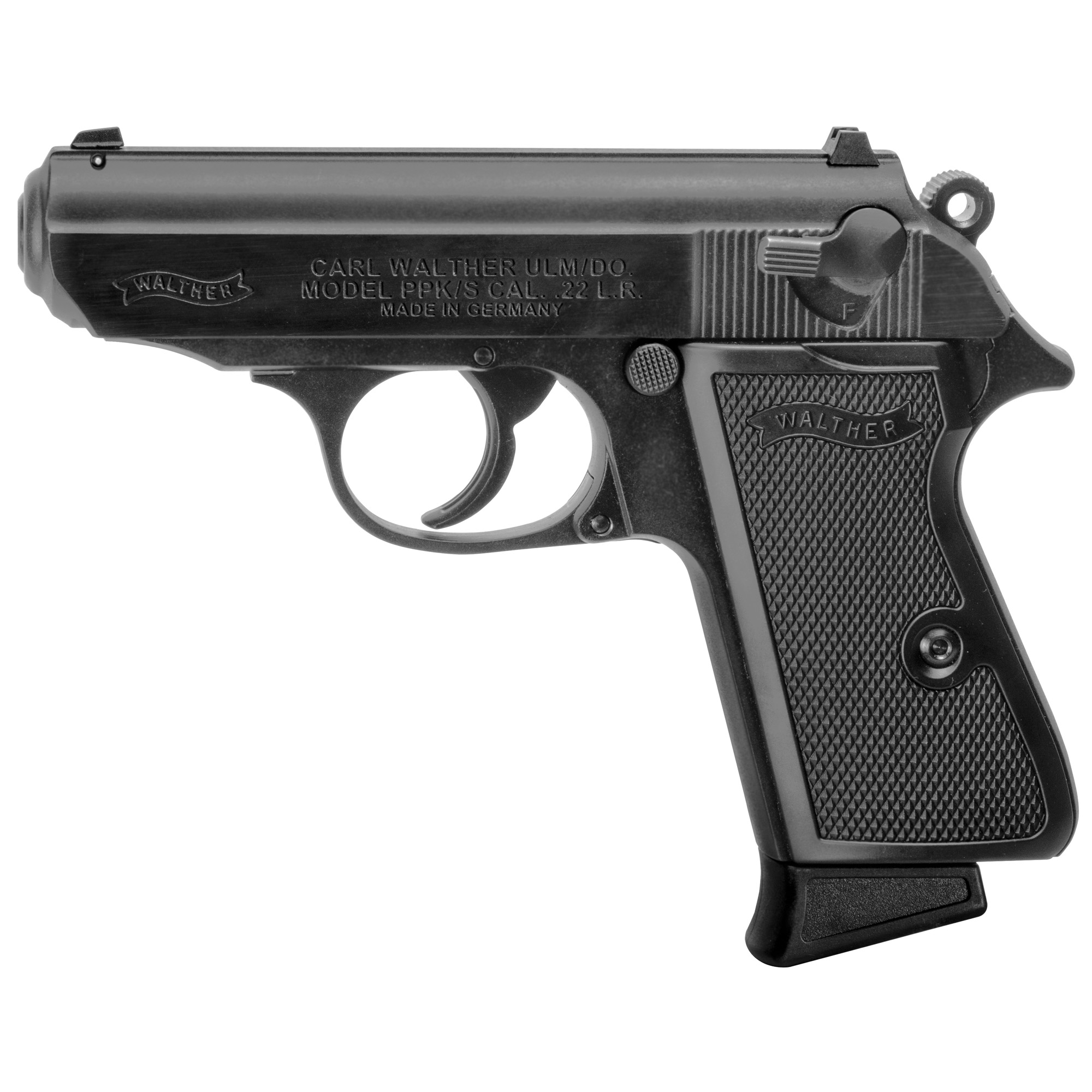 """The PPK/S .22 blends the iconic PPK design with the fun and cost savings of the .22 L.R. The PPK/S .22 is identical to its PPK brother in .380. But you can shoot the .22 rimfire for pennies a shot and recoil is minimal. The PPK/S .22 is great for the whole family. As a quality firearm"""" you can be proud to own it and someday pass it on to the next generation."""