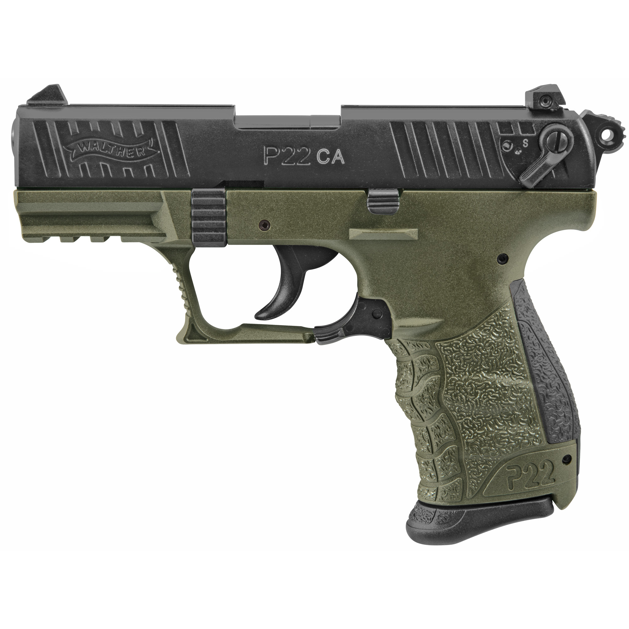 The .22 rimfire handgun will never look the same. The P22 changed everything. Walther adapted the tactical styling and Performance Design concepts from our centerfire handguns and applied them to the .22 L.R. This created a new movement in the design of contemporary rimfire handguns.