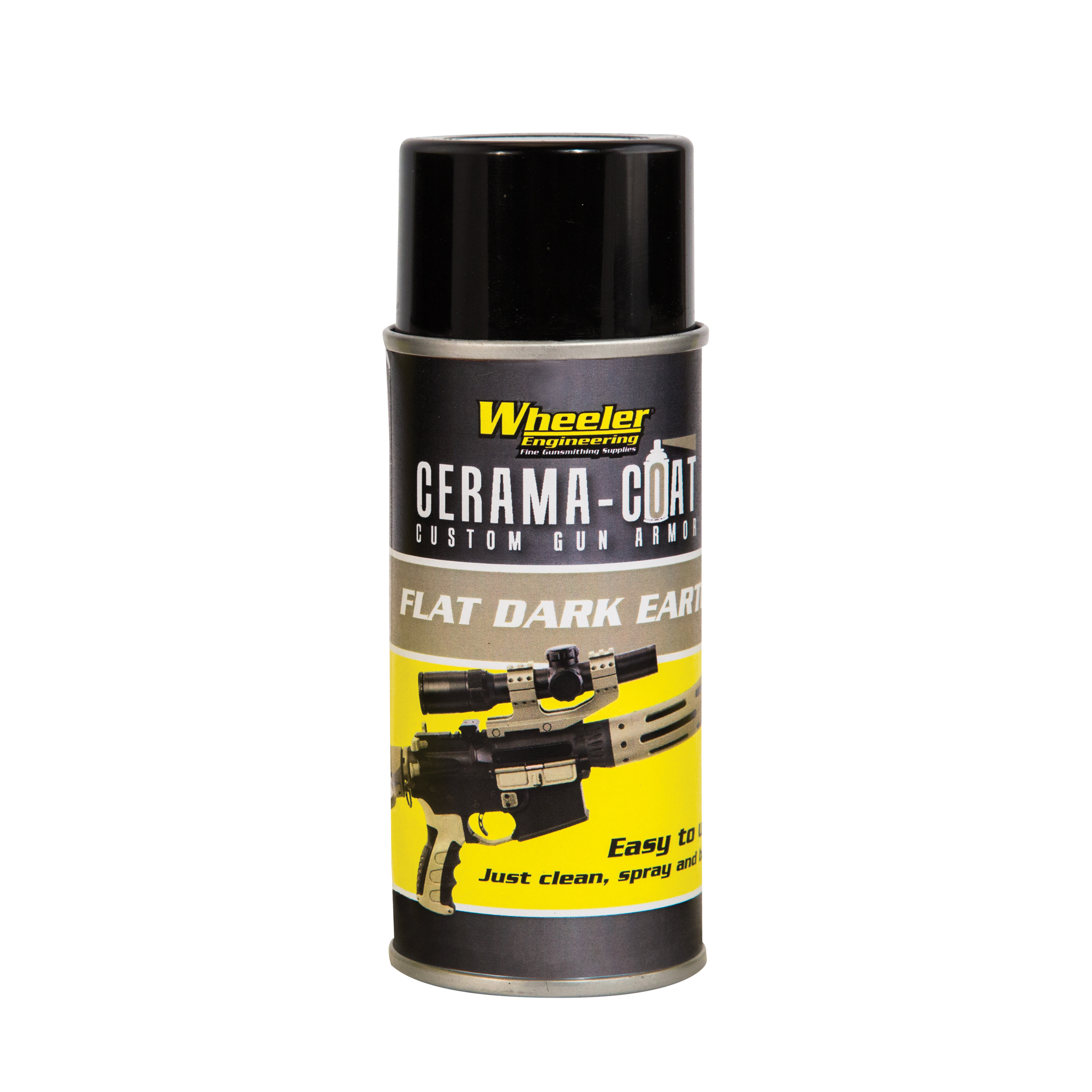 """Cerama-Coat(TM) is a specifically formulated finish for firearms that provides an extremely durable coating. The key to the super hard finish is ultra-fine ceramic molecules that actually crosslink and bond to the base material. A heating process after application forms the bond and hardens the finish. Bonds to ferrous metals"""" alloys"""" stainless steel and synthetics that can be heated to 200 degreeF. Can be applied over bare metal or existing blued"""" anodized or parkerized finish."""
