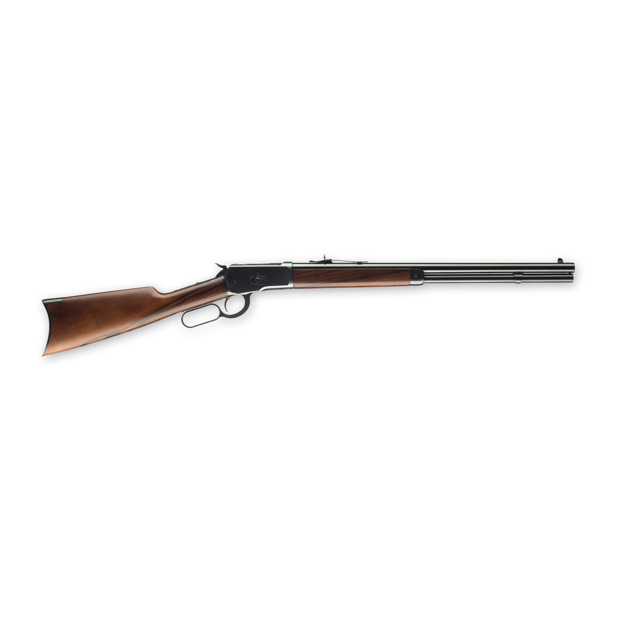 """The Model 92 is famous for its light weight"""" low recoil and responsive"""" easy handling. It displays a genius of design that makes it a modern-day treasure. The Winchester Model 1892 features a beautifully finished walnut stock"""" blued barrel and receiver"""" finely fit with precision and pride."""