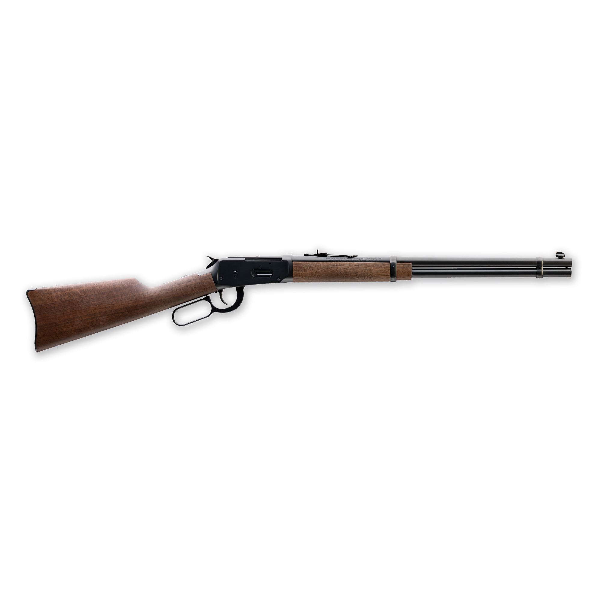 """The Model 94 Rifles and Carbines being made today surpass the quality and craftsmanship of any Model 94's made before. The button rifled barrels are triple checked at the factory"""" ensuring optimal accuracy. The smooth walnut stocks compliment the richly blued steel of the receiver and hardware. Round locking bolt trunnions help ensure a smooth"""" quick lever throw"""" imitated but unparalleled by the competition."""