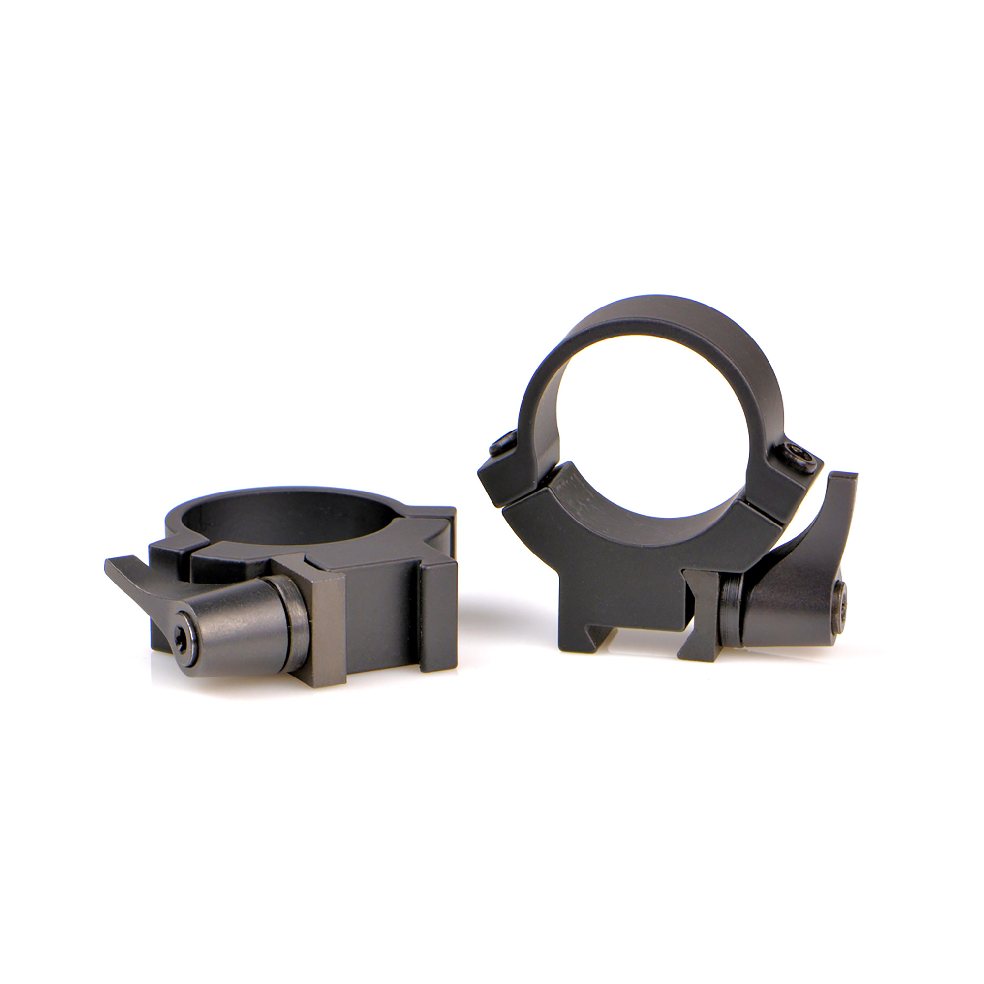 """The Rimfire rings are designed to fit a very wide selection of rifles with either a 3/8"""""""" or 11mm dovetail. This is made possible by using a solid asymmetrical reversible clamp that can be flipped 180 degree and used on wider or narrower dovetails for the best fit."""