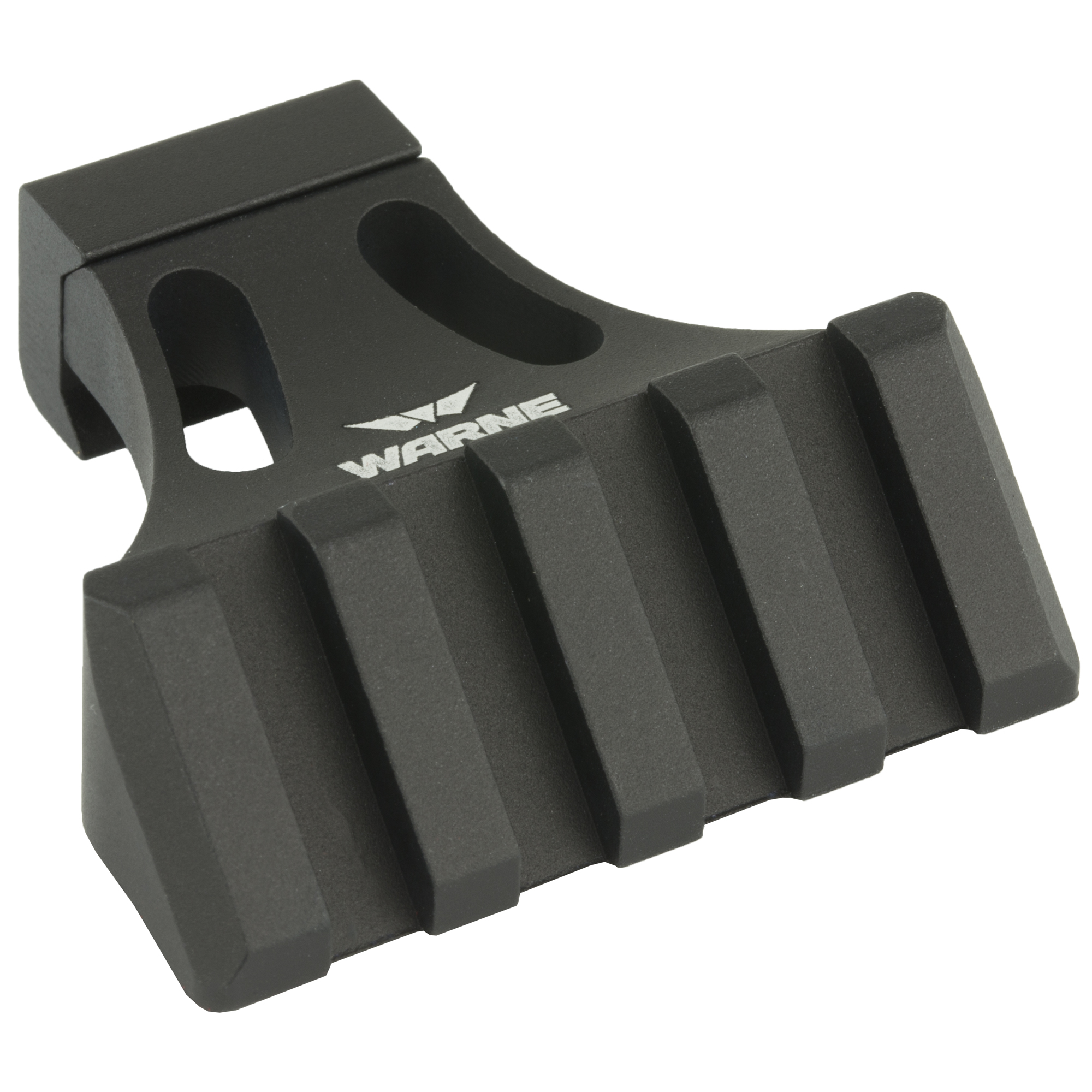"""The A645 Side Mount is designed for Flat Top MSR's and other tactical style firearms. It provides a 45 degree accessory platform that attaches to a Picatinny style rail. The A645 Mount can also be mounted to the rail on the hand guard to allow your back-up sight to co-witness with the sight on your R.A.M.P. Mount. This is a simple installation and requires no modification to your firearm. To add to its already sleek design"""" the A645 Side Mount has been redesigned to incorporate two cut out sections to achieve an ultra-lightweight feel. The side rails have also been updated with one more additional cross slot to increase the mounting capabilities to 4 slots total."""