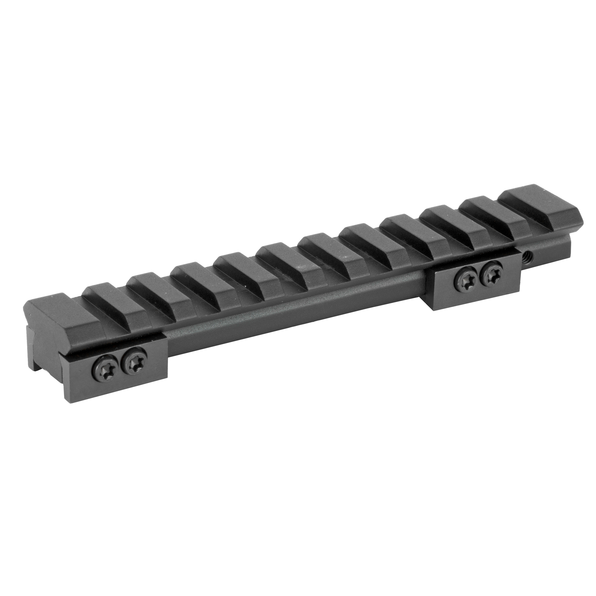 """Designed for the Ruger Mini 14 & 30 models and can be adapted to fit the Ruger 77/44"""" PC-9 and PC-40. This base attaches to the Ruger integral dovetail to convert the mount style to a Mil-Spec 1913 Picatinny rail design. With 1913 rail Mil-Spec"""" multiple-sight systems such as; red dot"""" holographic"""" reflex"""" and standard magnified optical sighting is available to the shooter. Compatible with Warne Maxima Rings."""