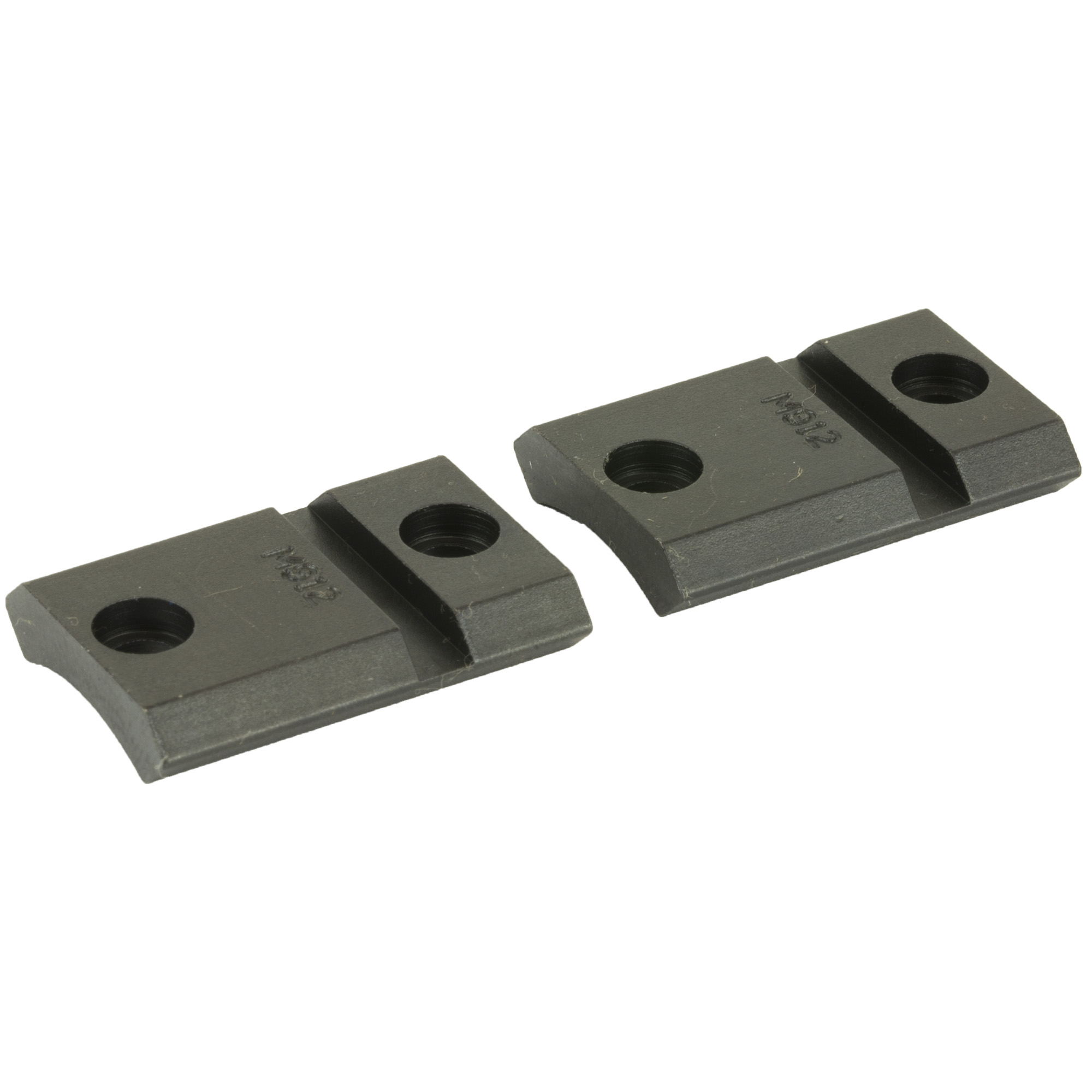 """The Maxima Steel Bases are modeled around the popular Weaver design"""" which is one of the strongest and most versatile mounting systems available today. The low profile of the Maxima Steel Bases give your firearm a sleek look. When used in conjunction with Warne Maxima QD Rings"""" the shooter is able to utilize the open sights by looking over the top of the bases without sacrificing the normal shooting position behind the firearm. Maxima Bases also offer a full width recoil slot in each base. This feature allows the recoil control keys of Warne Rings to attain maximum bearing surface."""