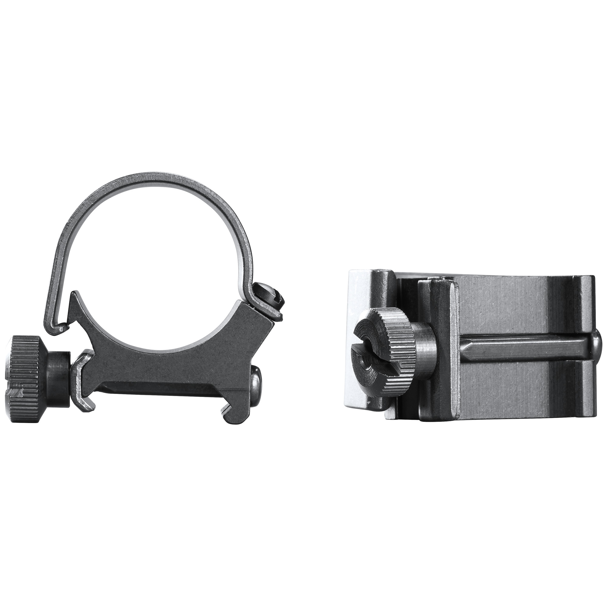 Get the best of both worlds with a steel strap for added strength and an aluminum saddle for reduced weight. These quick detach rings are the Original Weaver style Rings.