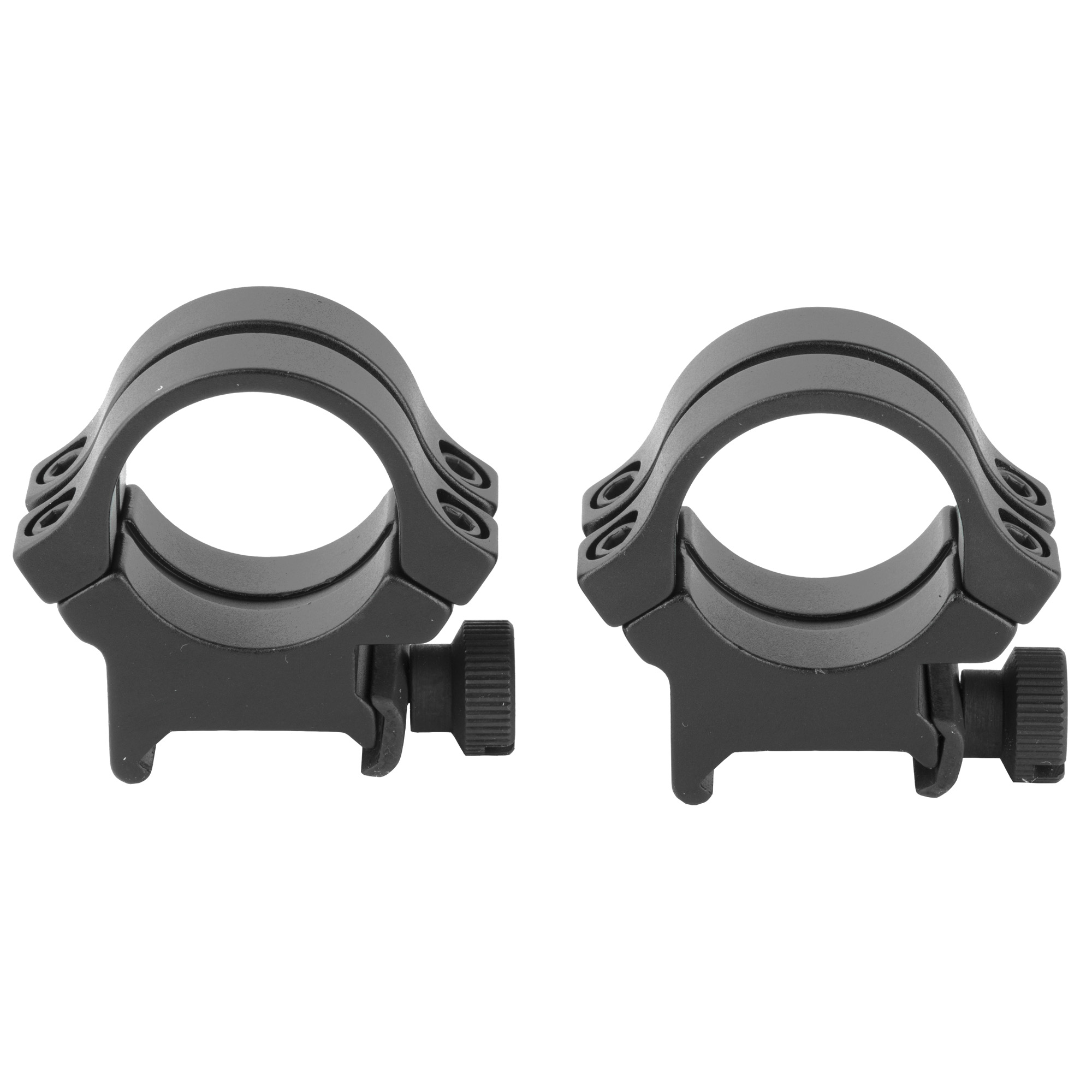"""These rings feature two straps and four screws for added gripping power for these lightweight"""" all aircraft aluminum rings. Weaver legendary quality at a modest price."""