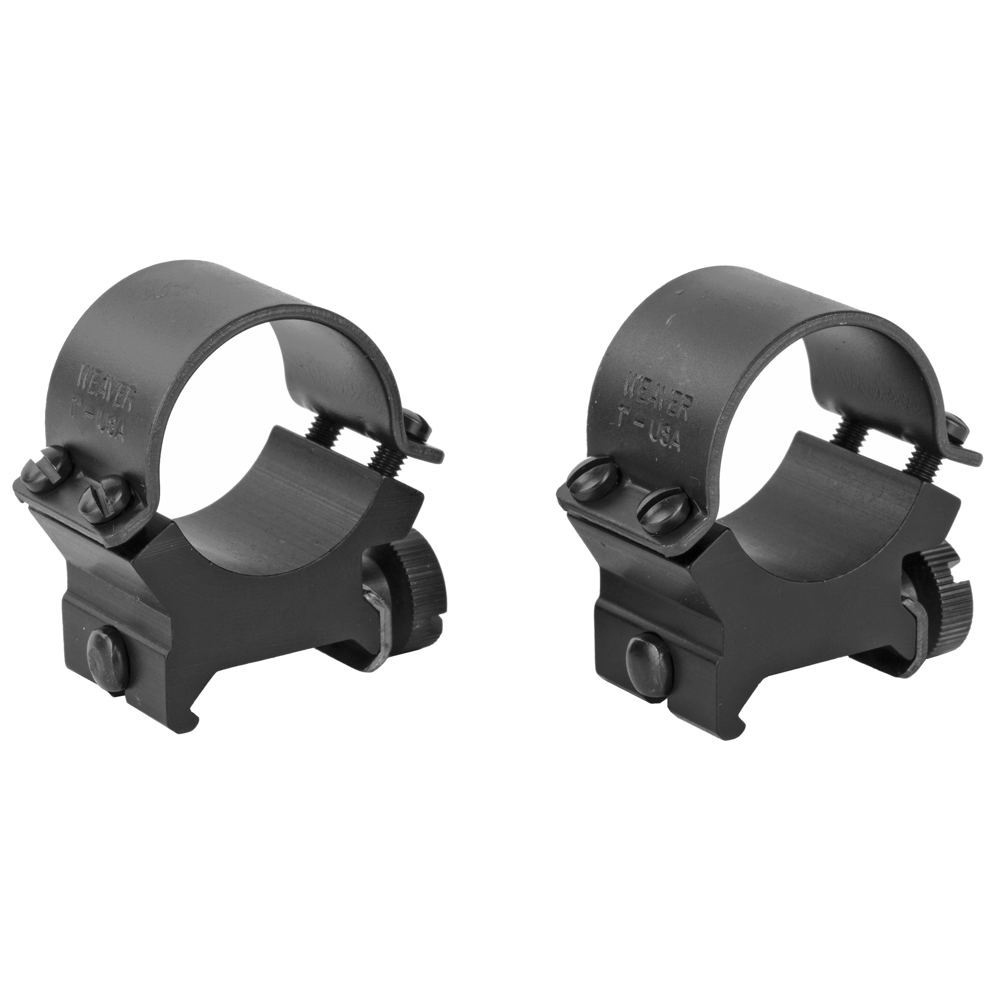 """These rings use a four-screw system"""" and have steel caps and an aluminum saddle for added strength. Also features the quick detach system"""" allowing you to loosen the thumb screws and go to iron sights in seconds."""