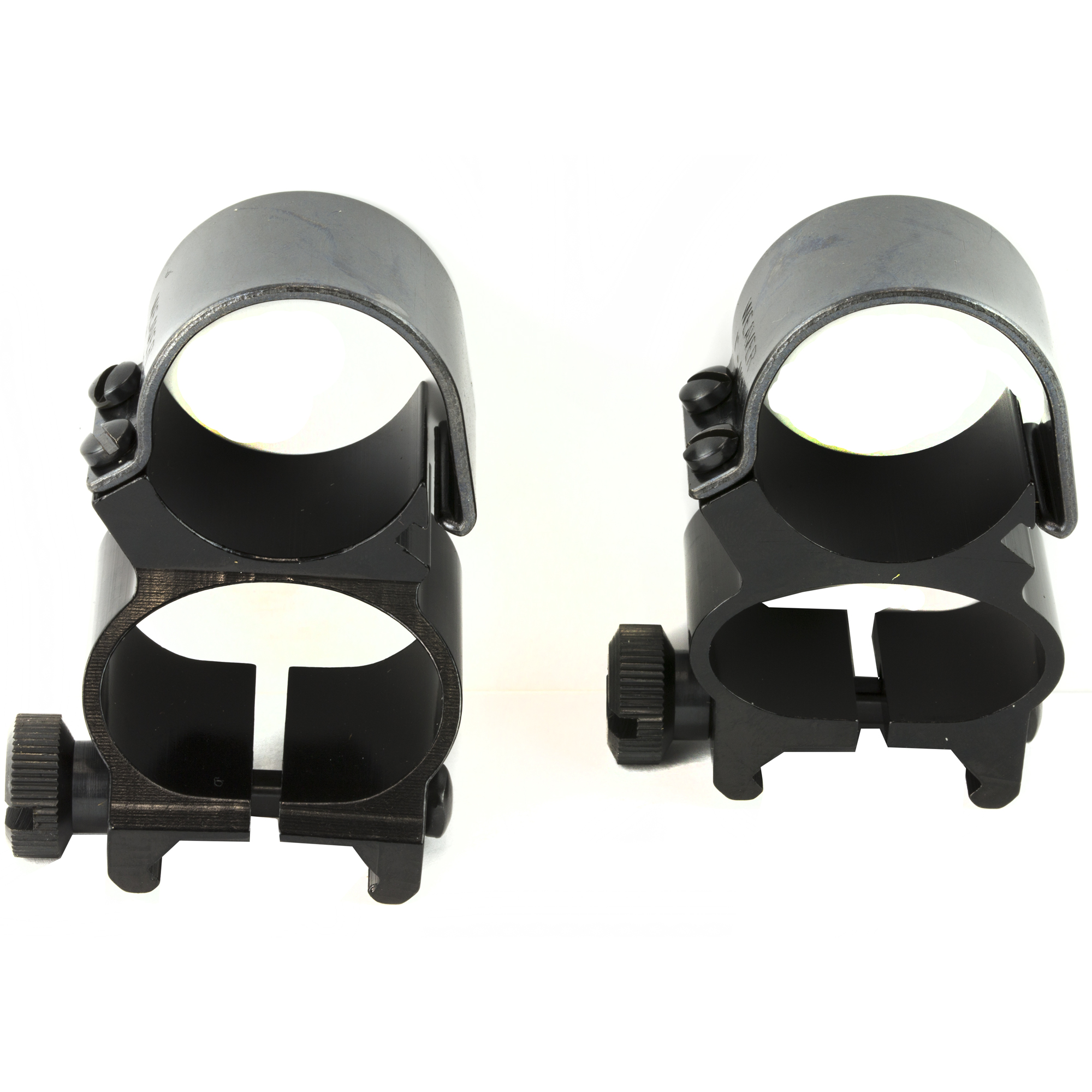 Utilize iron sights or your scope for quick target acquisition with these convenient rings. The square cross lock bolt fits tightly and securely with Weaver(R) Top Mount Bases.