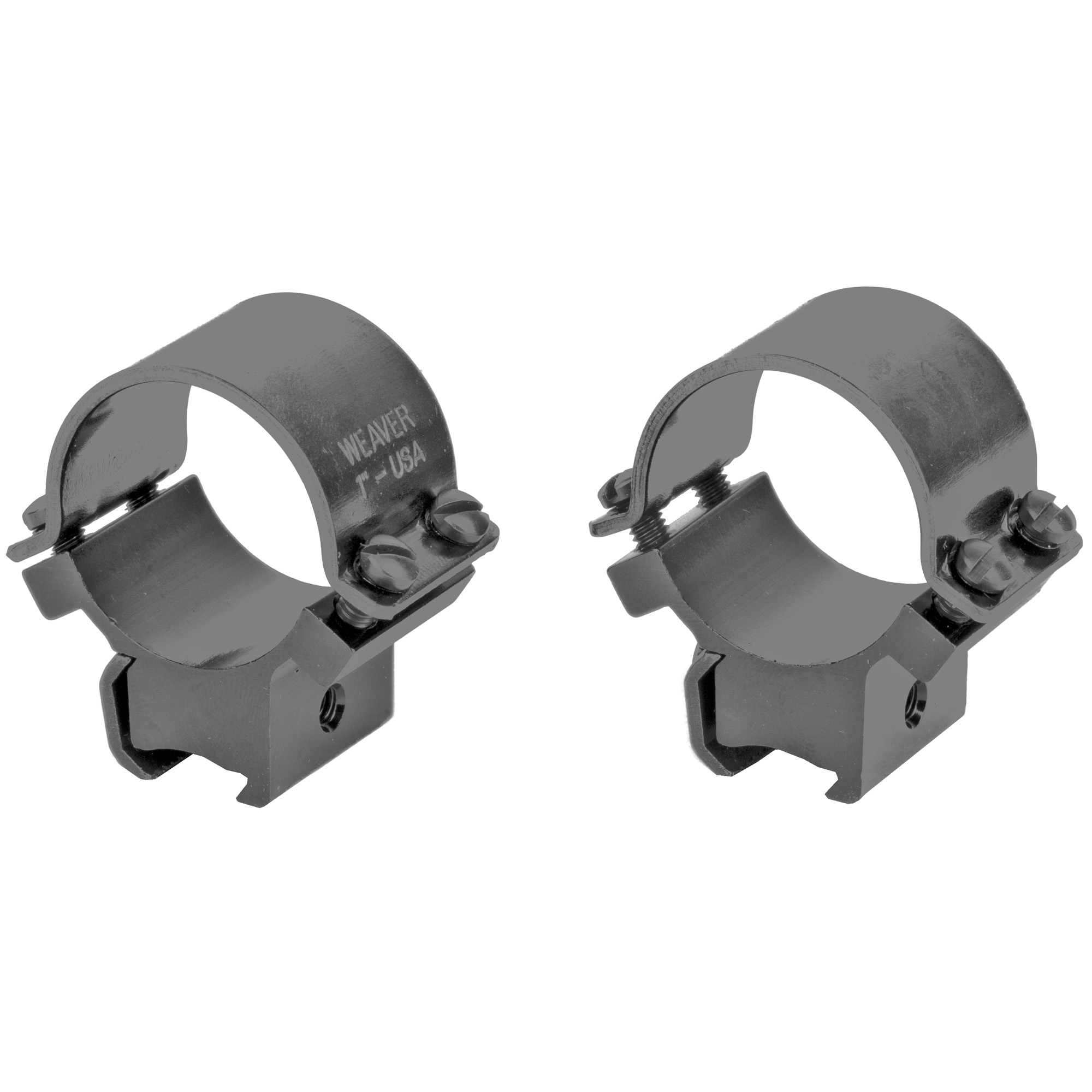 These mounts are made for .22s that have factory grooves in the rifle's receiver. They clamp directly to the receiver or Tip-Off Bases