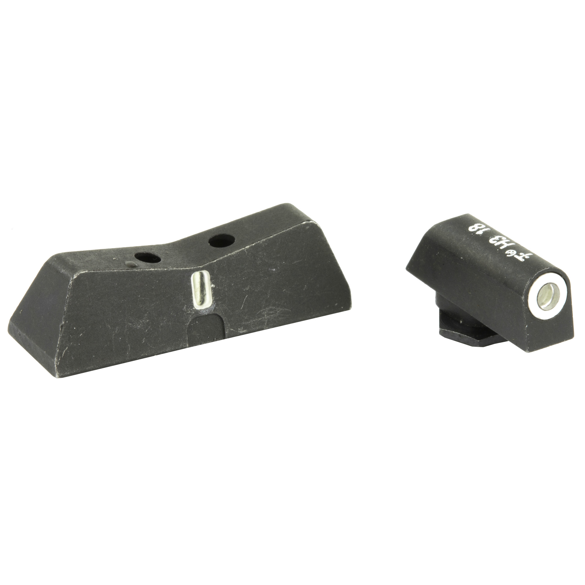 "The XS DXT Standard Dot night sight is a superior defensive sight set. Fits Glock models 17"" 19"" 22"" 23"" 24"" 26"" 27"" 31"" 32"" 33"" 34"" 35"" & 36. Precision machined in Fort Worth"" TX"" XS Sights feature a Standard Dot Tritium front sight and express rear sight with a vertical tritium stripe for fast sight acquisition in all light conditions. Standard Dot is larger than most fronts to be seen under stress"" but covers less of the target than the Big Dot. White dot reflects ambient light for visibility in low light. Shallow V-Notch rear provides an unobstructed view of the front sight"" along with a greater field of view down range"" especially when moving and shooting. Day-Light"" Half-Light"" or Low-Light"" just ""dot the i"" and center the dot over your target within 15 yards. Outside Diameter Standard Dot 0.140""; fits in common holsters. Installation might require filing to fit sight to dovetail"" do not use a sight press/pusher tool."