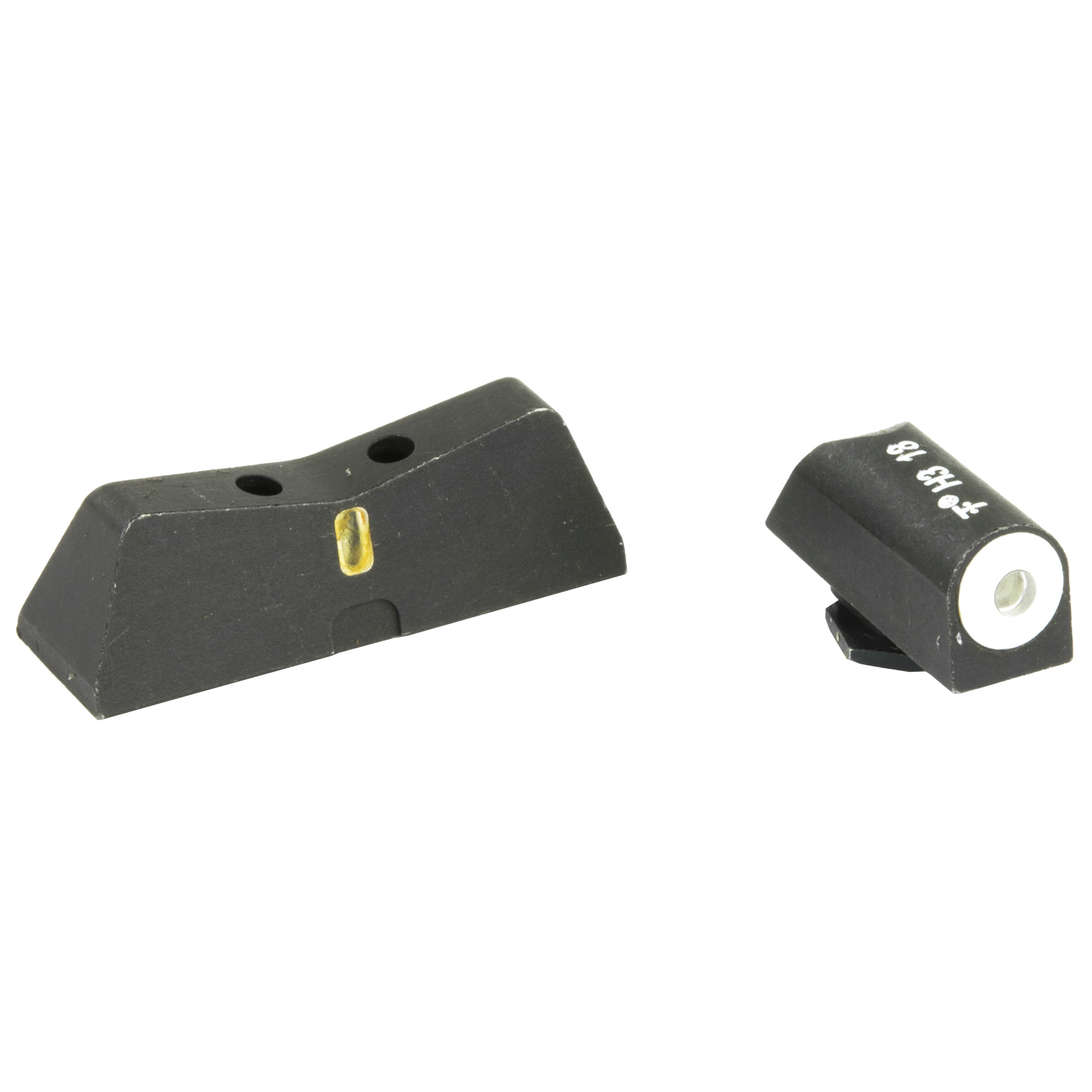 "The XS DXT Big Dot night sight is the ultimate defensive sight set. Fits Glock models 20"" 21"" 29"" 30"" 30S"" 37"" 40"" & 41. Precision machined in Fort Worth"" TX"" XS Sights feature a Big Dot Tritium front sight and express rear sight with a vertical tritium stripe for fast sight acquisition in all light conditions. Big Dot demands your attention - even in high stress and for those with poor eyesight"" aids in rapidly achieving combat effective hits. White dot reflects ambient light for best visibility in low light. Shallow V-Notch rear provides an unobstructed view of the front sight"" along with a greater field of view down range"" especially when moving and shooting. Day-Light"" Half-Light"" or Low-Light"" just ""dot the i"" and center the dot over your target within 15 yards. Outside Diameter Big Dot 0.188""; fits in common holsters. Installation might require filing to fit sight to dovetail"" do not use a sight press/pusher tool."