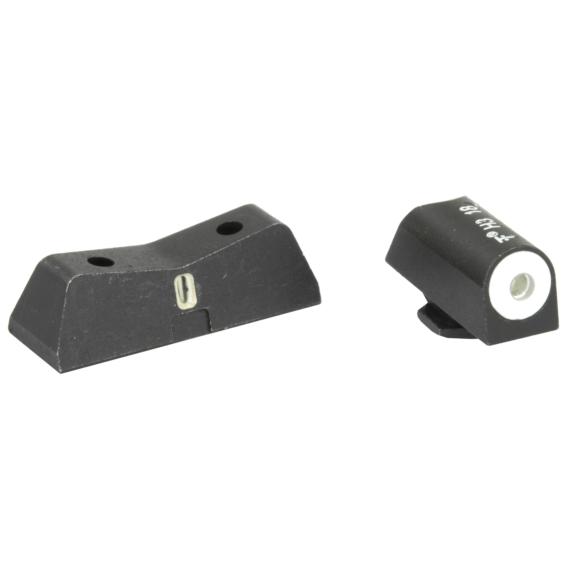 "The XS DXT Big Dot night sight is the ultimate defensive sight set. Fits Glock models 42 & 43. Precision machined in Fort Worth"" TX"" XS Sights feature a Big Dot Tritium front sight and express rear sight with a vertical tritium stripe for fast sight acquisition in all light conditions. Big Dot demands your attention - even in high stress and for those with poor eyesight"" aids in rapidly achieving combat effective hits. White dot reflects ambient light for best visibility in low light. Shallow V-Notch rear provides an unobstructed view of the front sight"" along with a greater field of view down range"" especially when moving and shooting. Day-Light"" Half-Light"" or Low-Light"" just ""dot the i"" and center the dot over your target within 15 yards. Outside Diameter Big Dot 0.188""; fits in common holsters. Installation might require filing to fit sight to dovetail"" do not use a sight press/pusher tool."