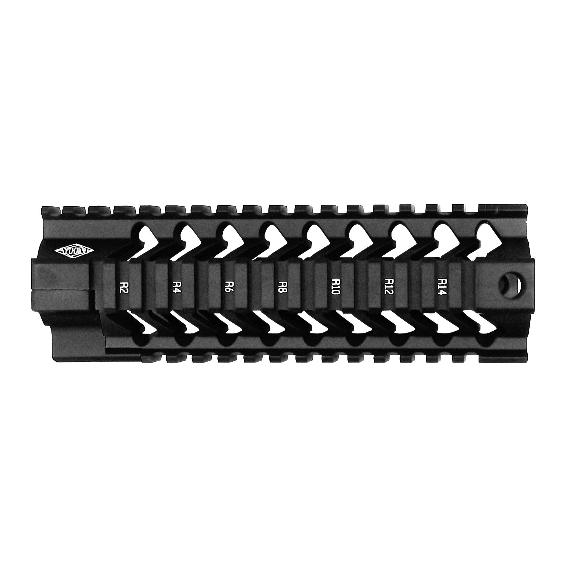 """The S.L.R. (Slim"""" Light"""" Rail) series of handguards were designed to address the two main customer requests regarding their other handguard models. The number one request was to make a thinner handguard. Both versions are slimmer than their current handguards"""" the smooth being more than 5/8"""" thinner than their current quad rail design! The second most common request was to design a handguard that would accept most aftermarket piston systems. The new profile of the S.L.R. allows for most piston systems to be used while maintaining a top rail that co-witnesses with the upper receiver. They also redesigned the top rail so that when installed it creates one continuous picatinny rail between the upper receiver and the handguard. Also redesigned is their method for attaching the handguard to the receiver. NO EXTRA TOOLS are needed to install the S.L.R. handguards! The smooth (customizable) version allows you to mount accessory rails to the sides and bottom if you desire using the same Customizable Forearm Rails that they currently offer."""
