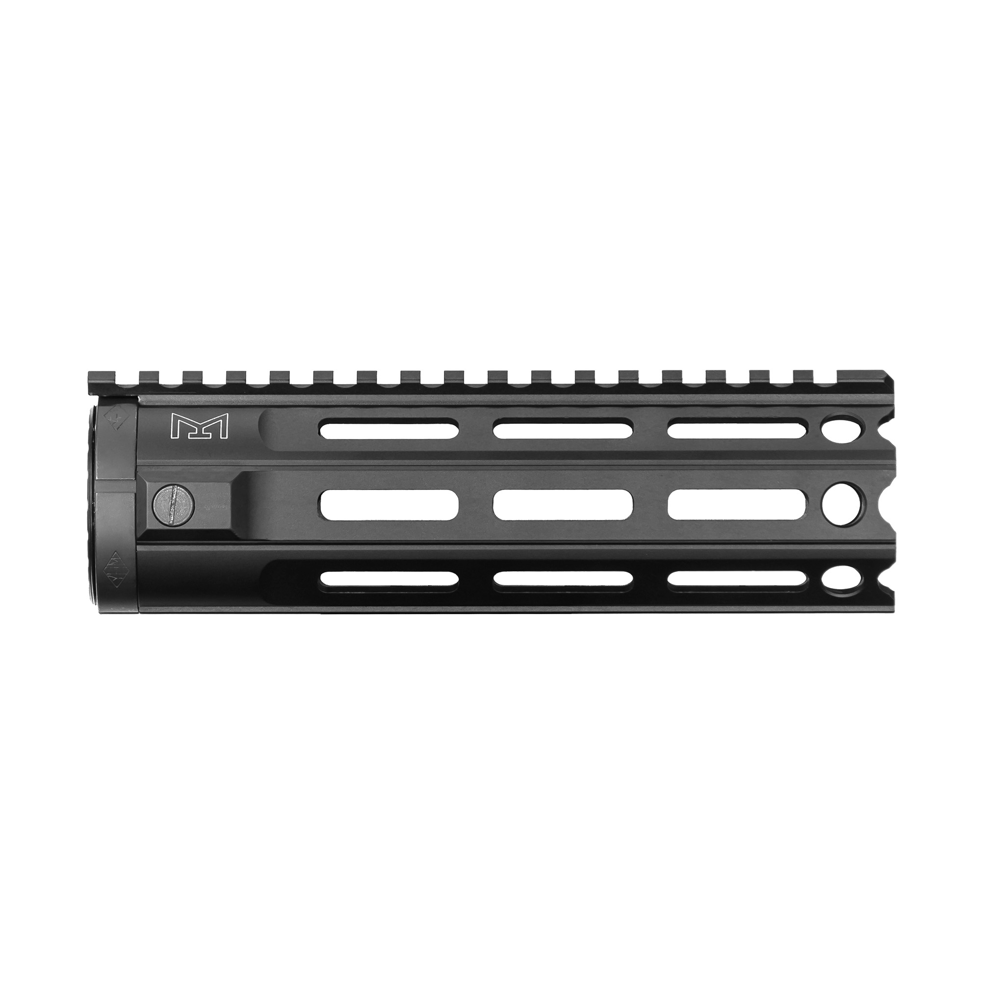 """Following the successful release of YHM S.L.K. and KR7 KeyMod handguards and in response to customer demand"""" Yankee Hill Machine is proud to introduce their new line of M-Lok rails"""" providing the same lightweight durability with the added versatility of the popular mounting platform. The MR7 is one of their lightest handguards to date"""" but you can still add accessories along the entire handguard length"""" even at every 45 degree position. Note: This handguard features a """"T"""" marked extended top rail."""