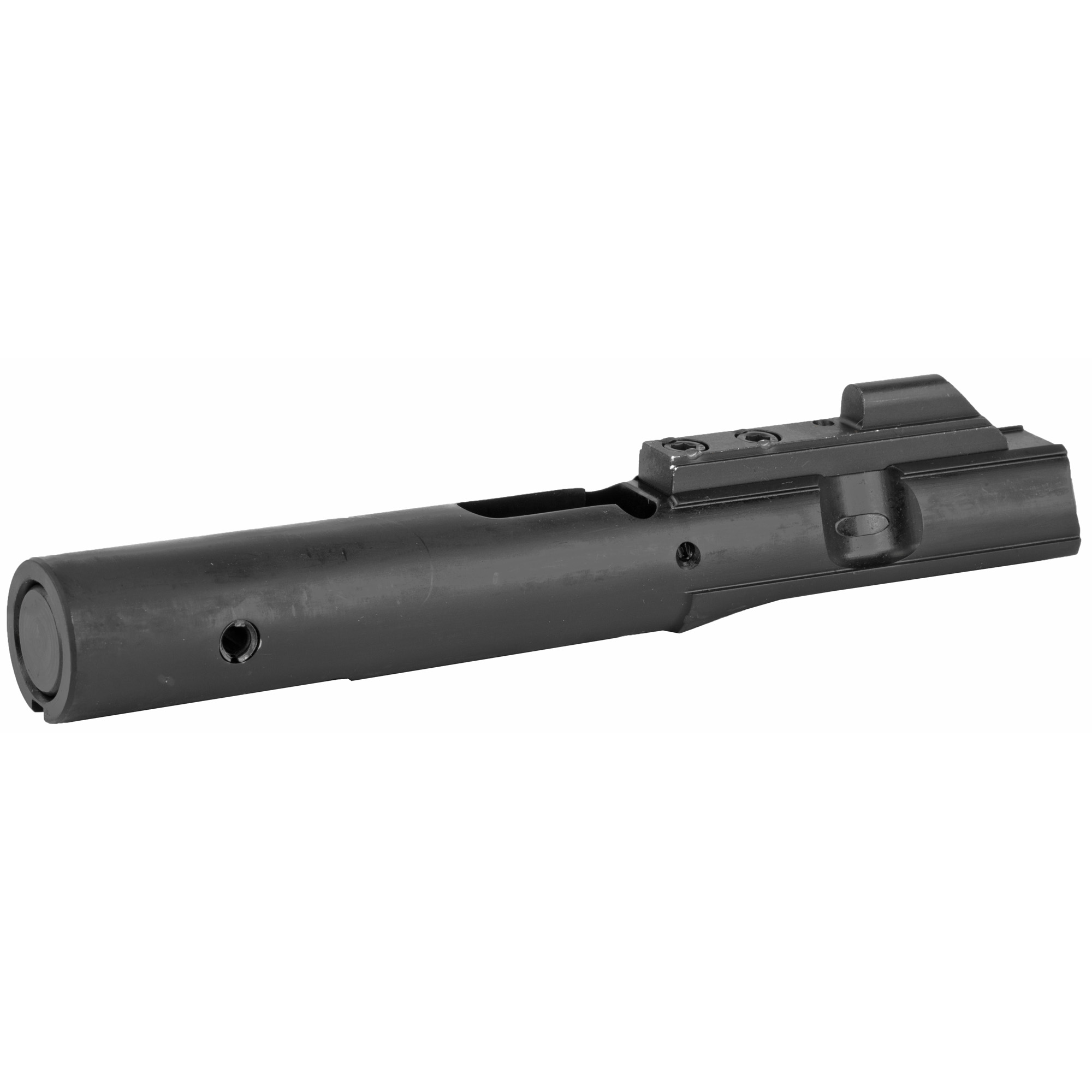 This Enhanced 9mm bolt assembly is complete and ready to drop into your 9mm upper. This unit is ramped for use with a standard AR or M16 hammer; no more having to purchase an additional non-standard part. Will not function with dedicated 9mm Hammer. Requires use of Standard Hammer.