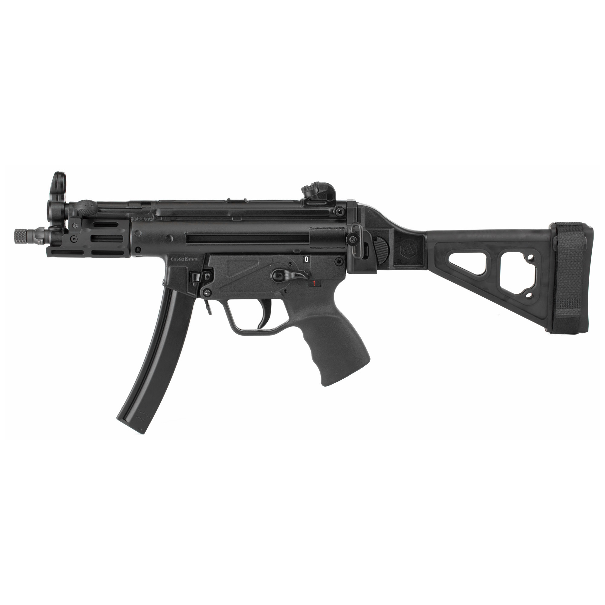 """The Z-5P SB Rail is Zenith's Z-5P outfitted with an M-LOK forearm and a folding pistol brace. It is covered by a five-year warranty"""" and ships in an MKE hard case with a receiver end cap"""" a Picatinny optic rail"""" three magazines"""" a military-style sling"""" two extra takedown pins"""" a cleaning kit"""" and a user manual."""